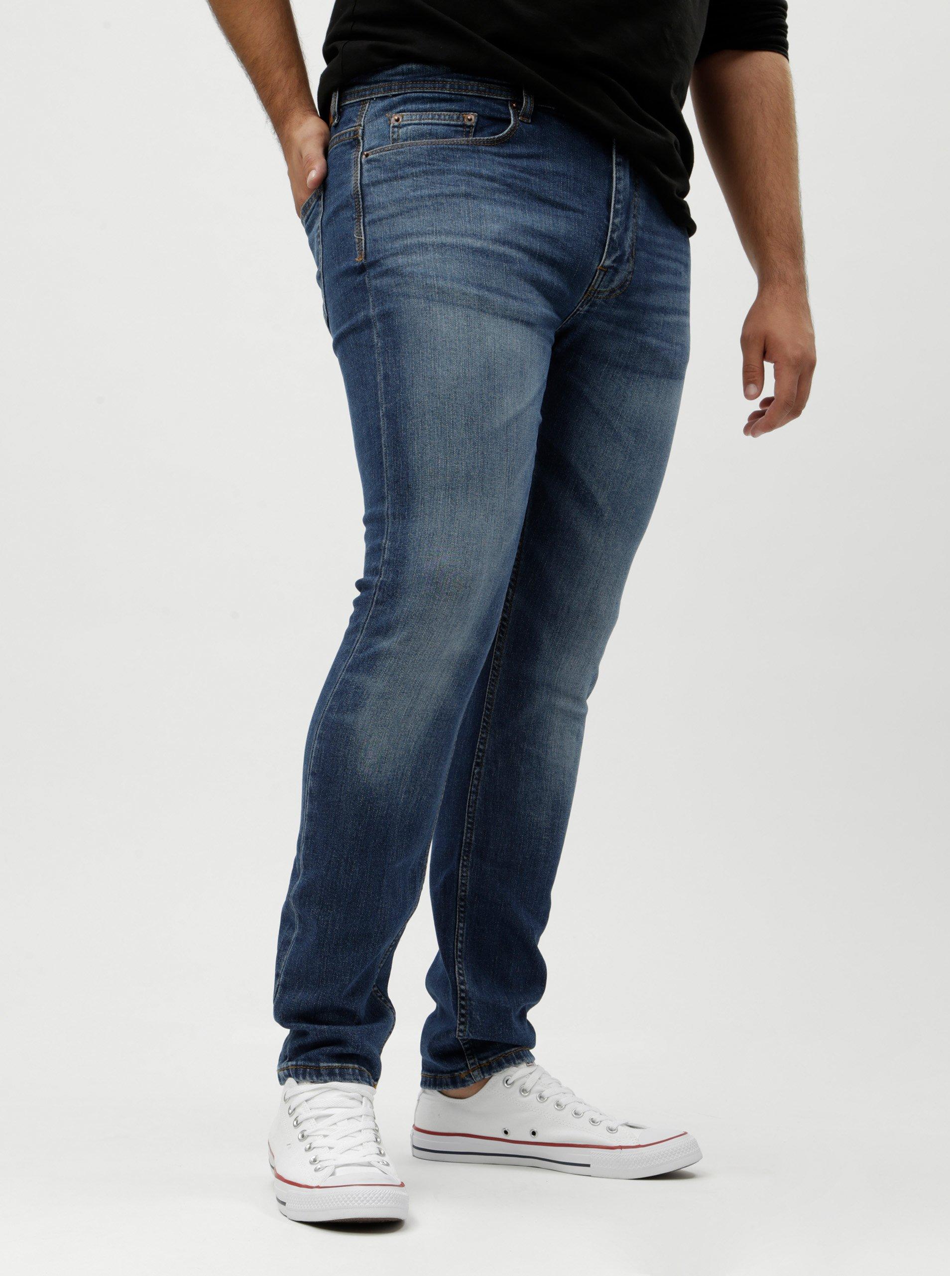 Modré skinny džíny Burton Menswear London