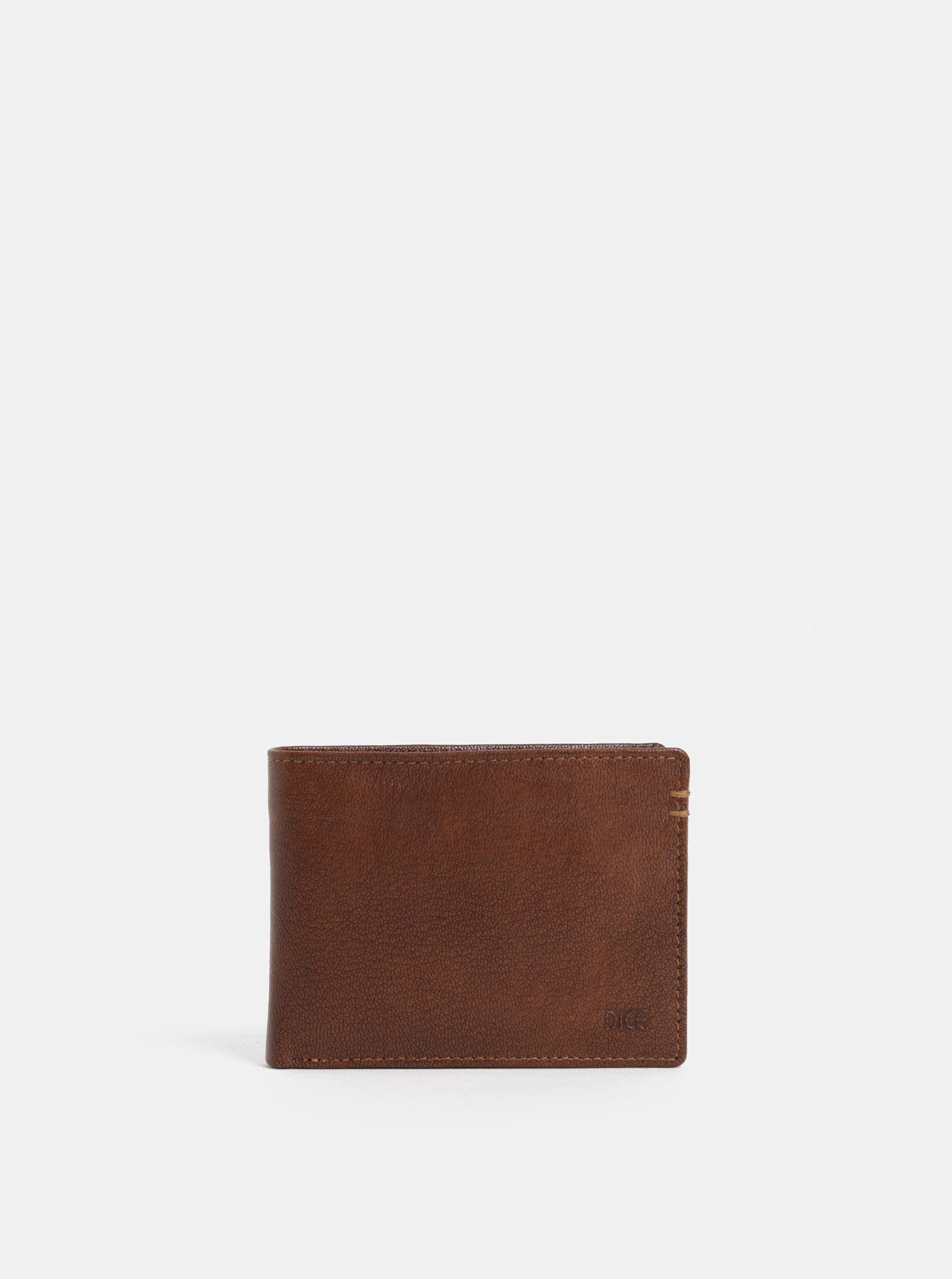 91bc3c7822 Hnedá kožená peňaženka Dice Parker