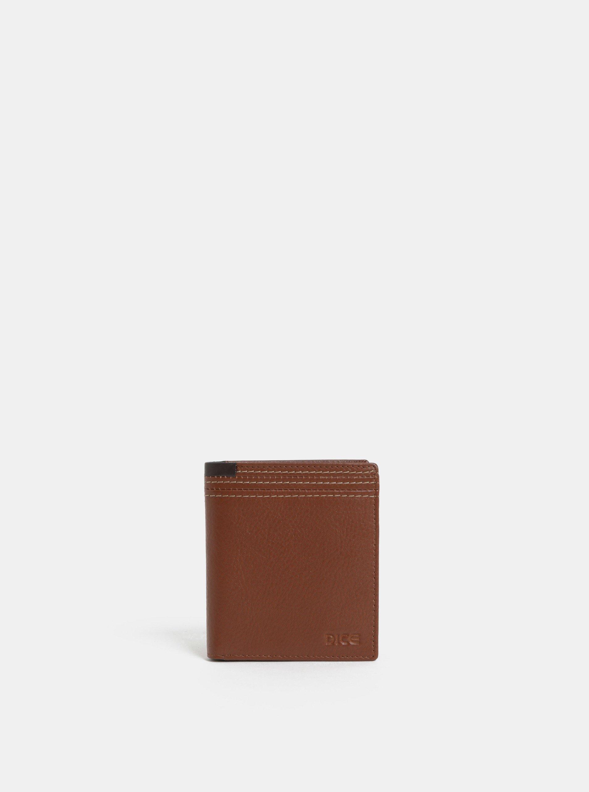 Hnedá kožená peňaženka Dice Range
