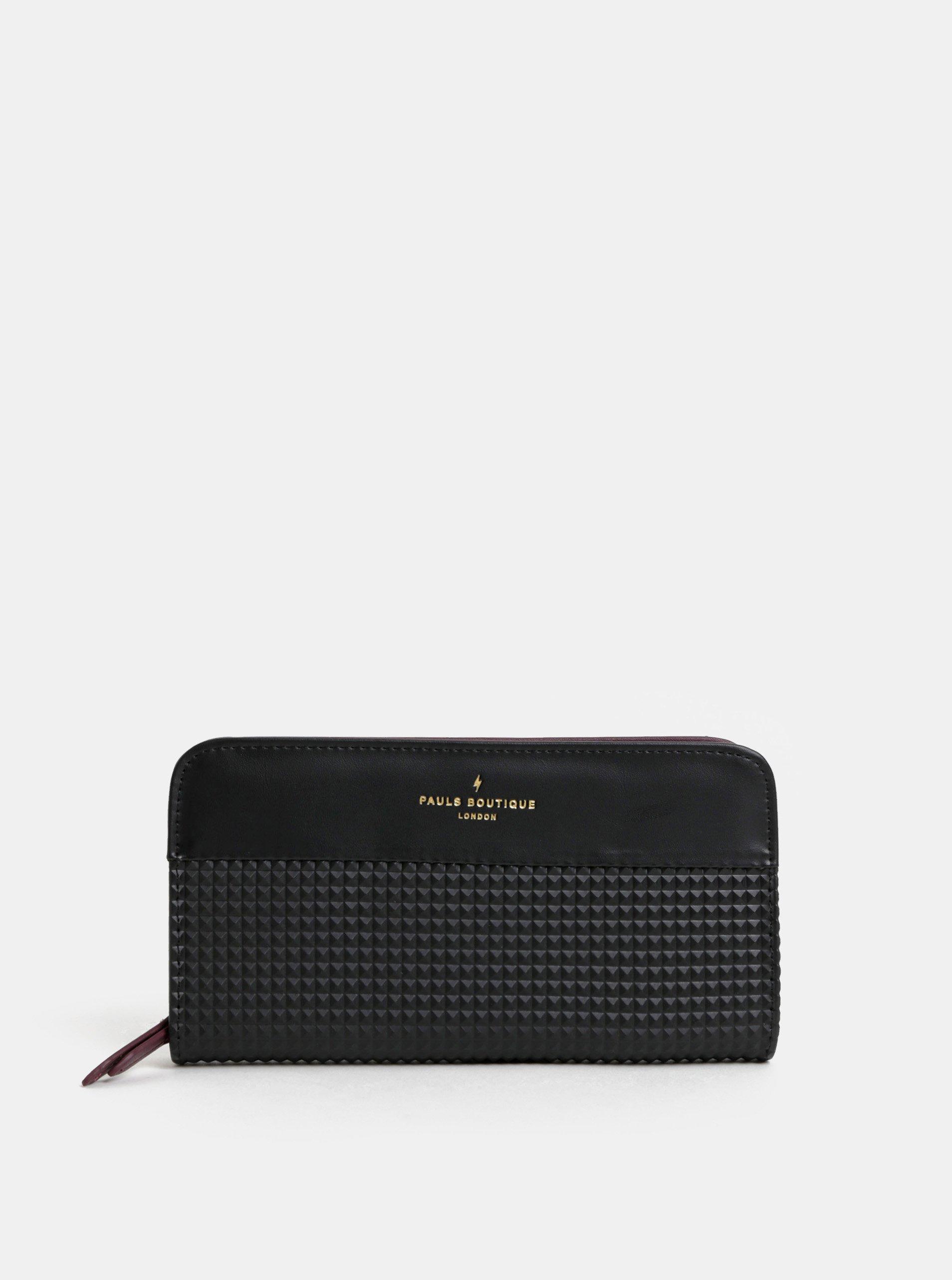 Černá strukturovaná velká peněženka Paul's Boutique