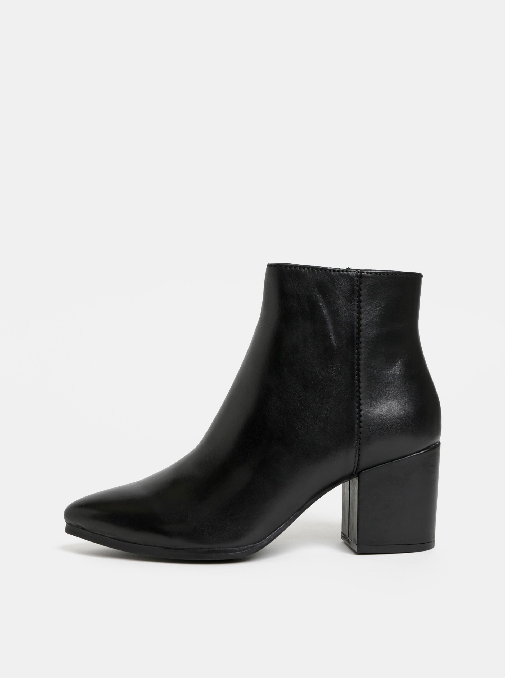 f3770e922141 Čierne dámske kožené členkové topánky ALDO Fralissi