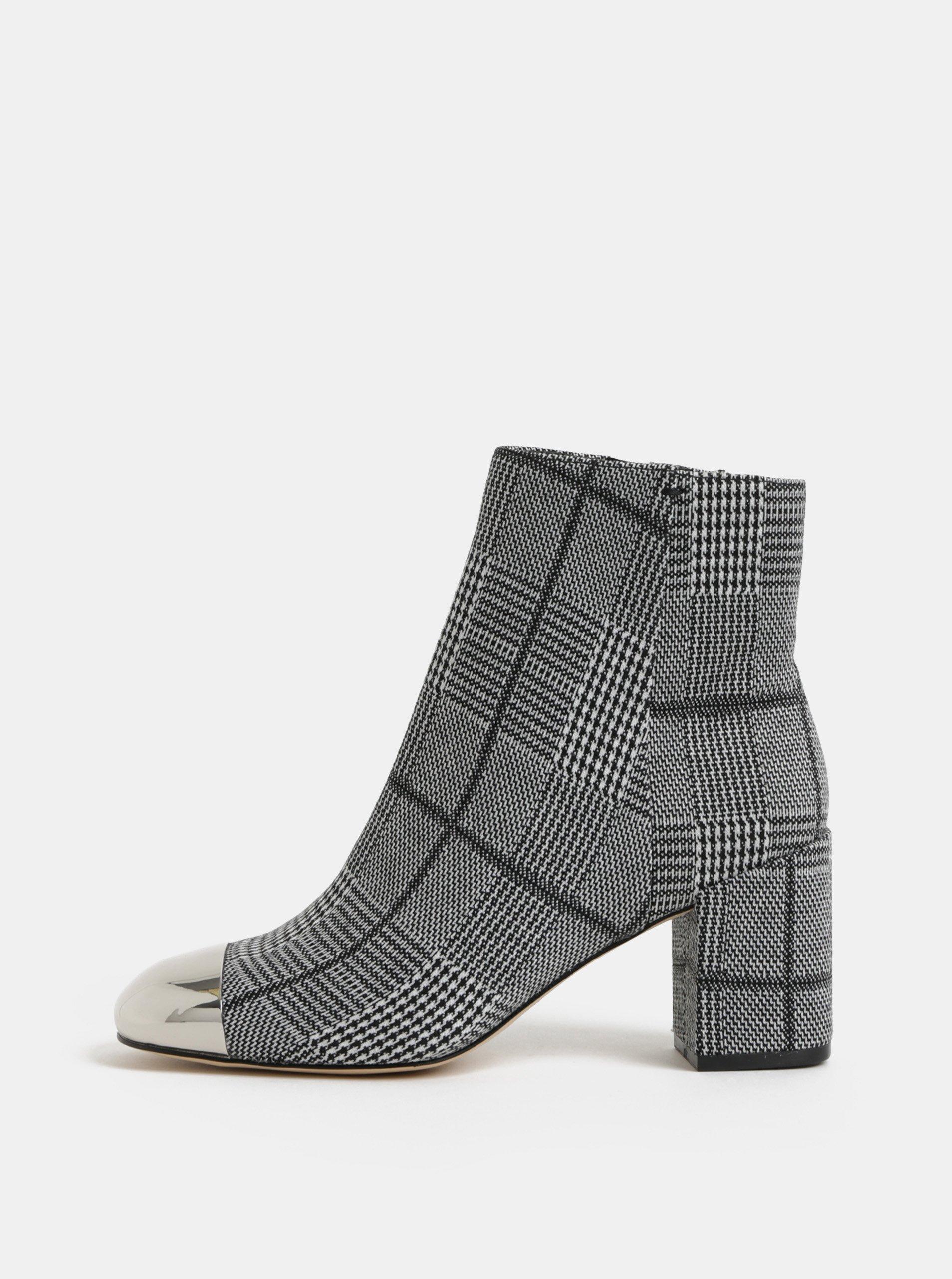 Krémovo–čierne dámske vzorované členkové topánky ALDO Seiria