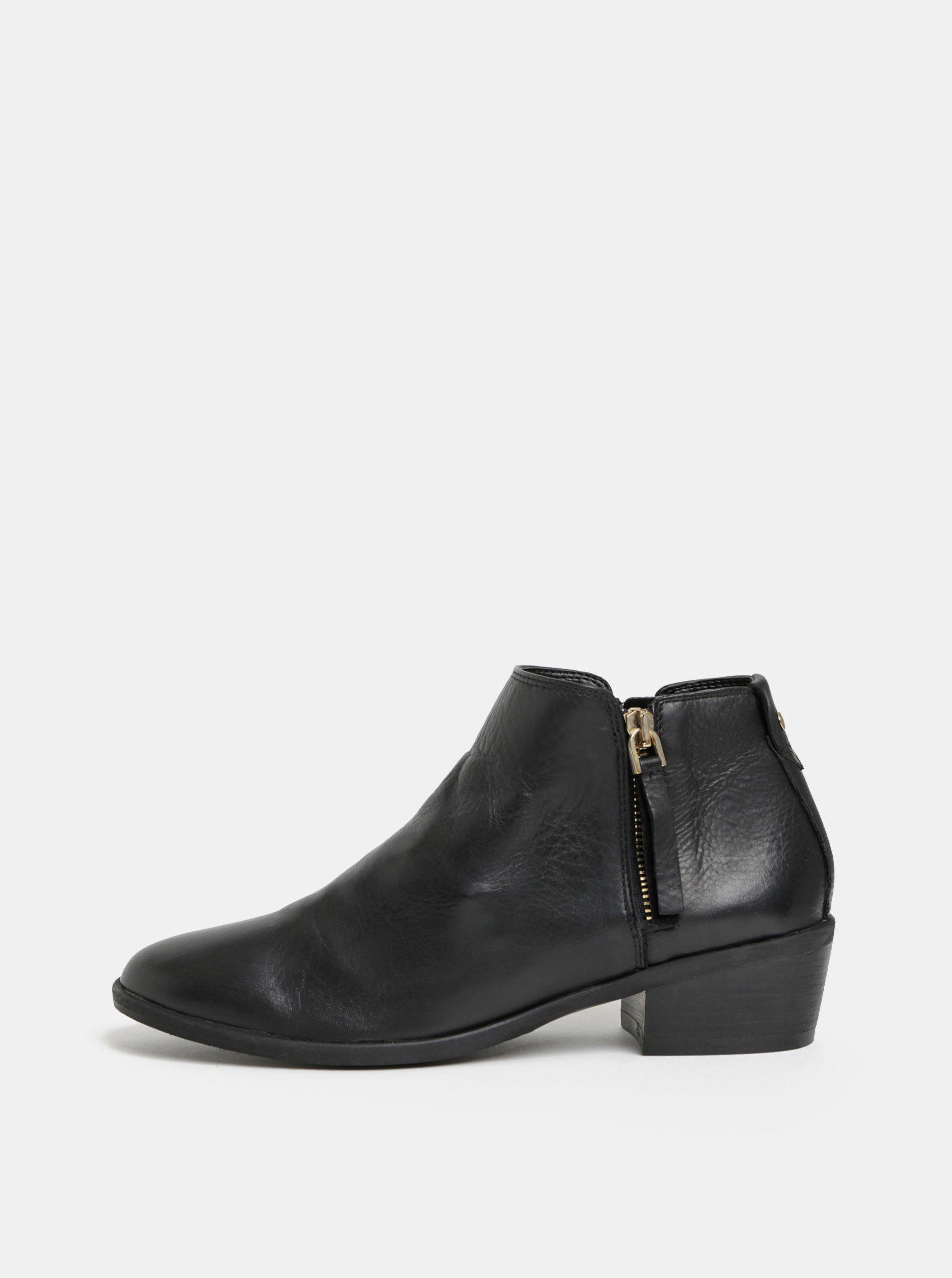 d331081bd Čierne dámske kožené členkové topánky ALDO Veradia