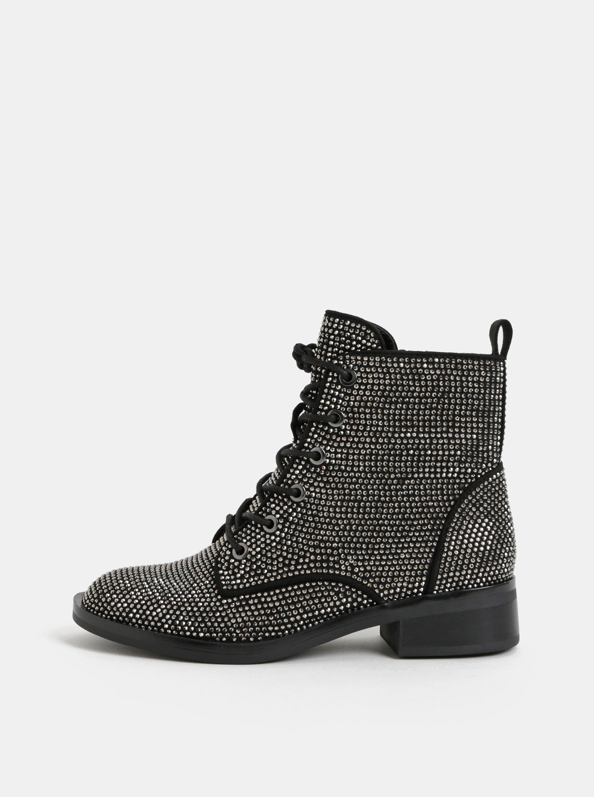 Černé dámské kotníkové boty s třpytivou aplikací ALDO Galolila 7d8116c9f9