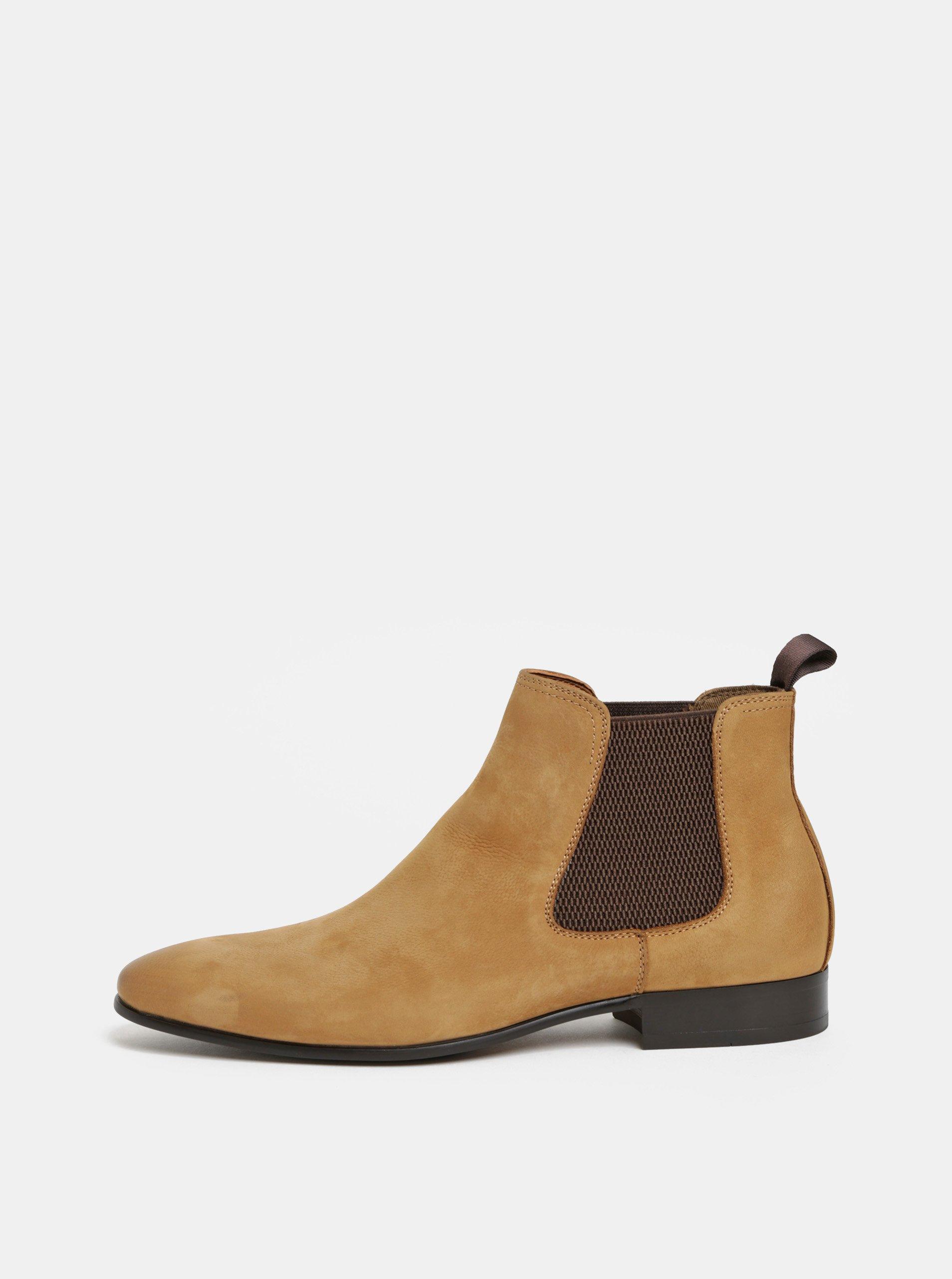 Hnedé pánske kožené chelsea topánky ALDO Chenadien 19a327bf766