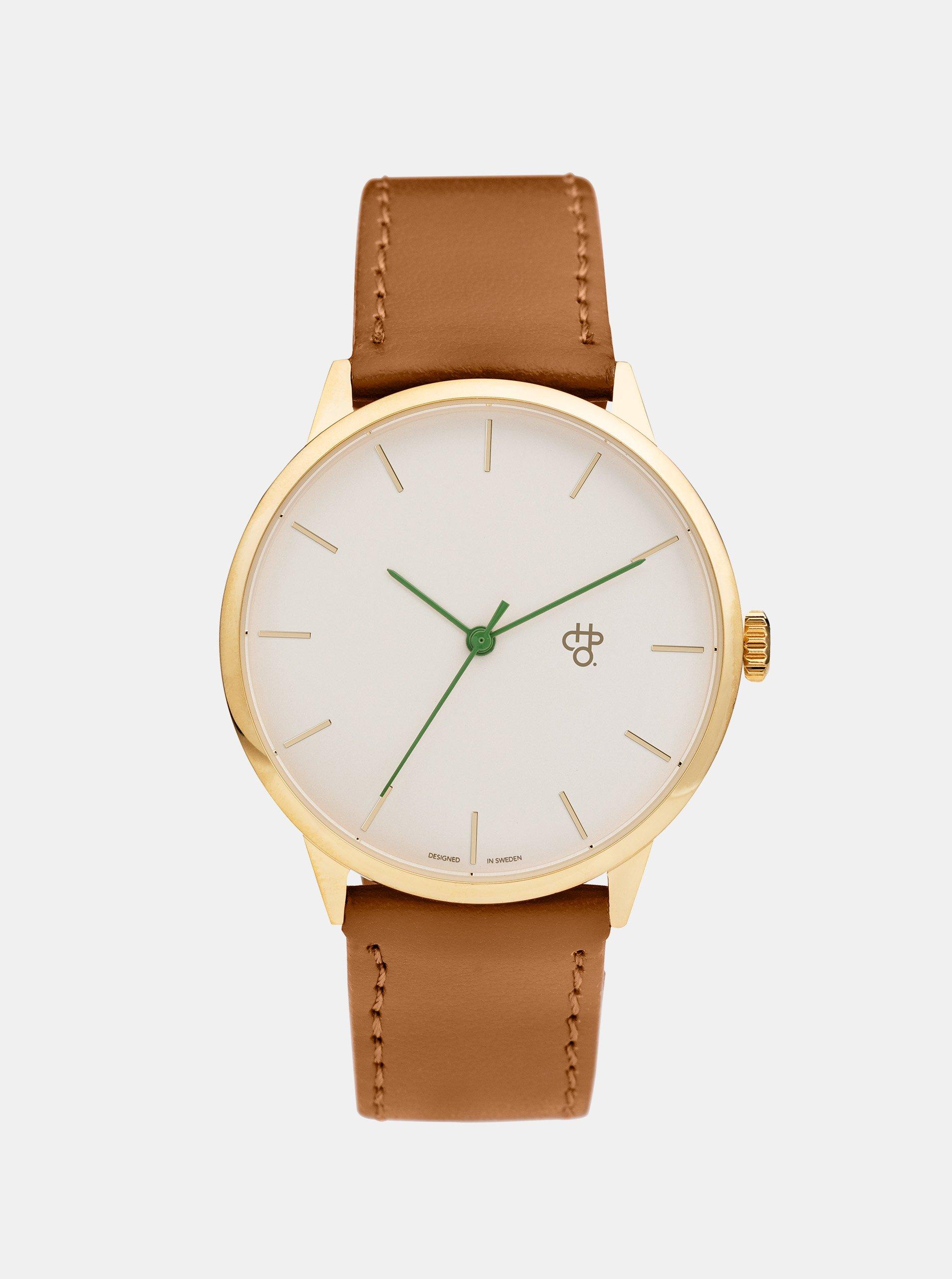 Unisex hodinky s hnědým páskem z veganské kůže CHPO Nawroz 860cf48d978