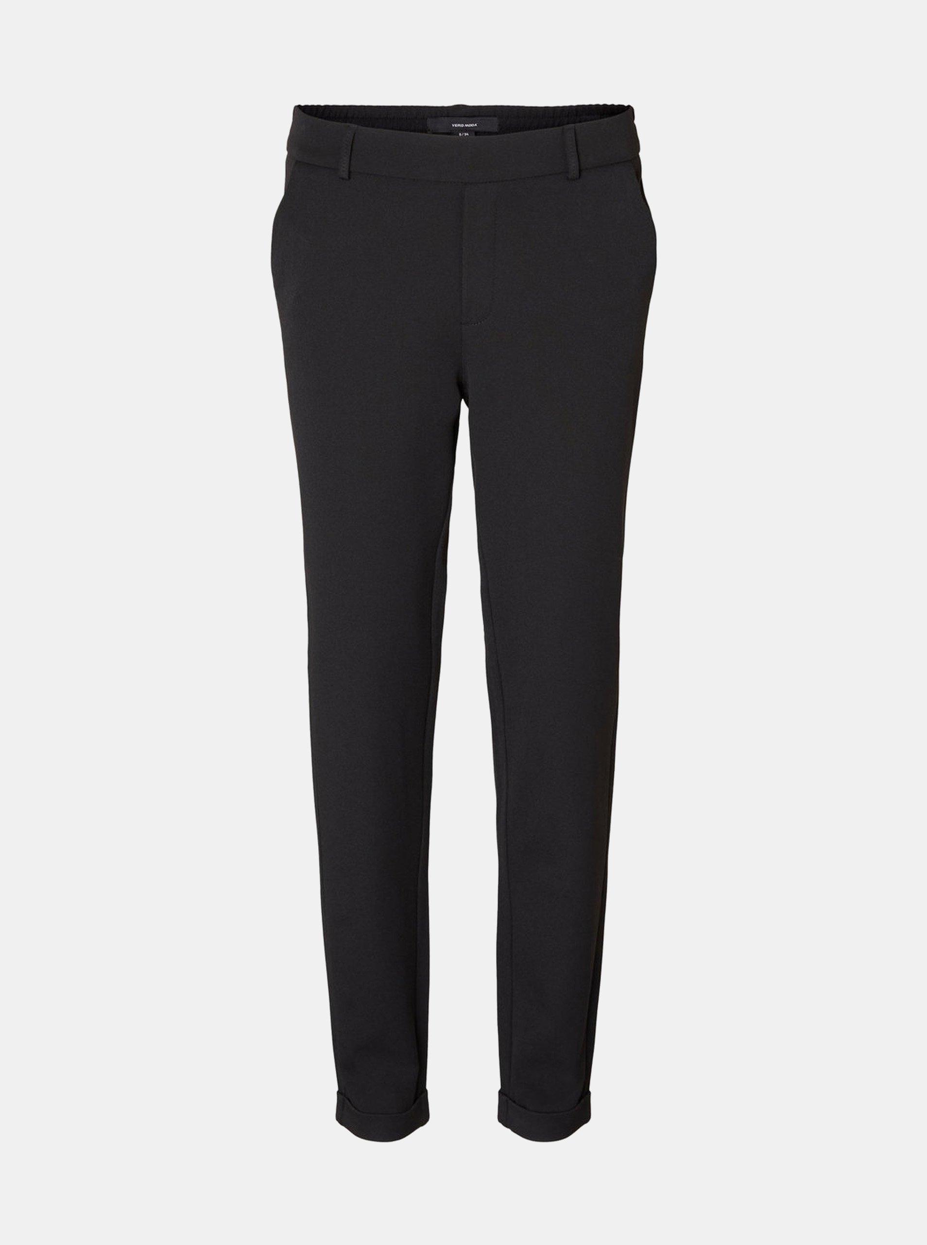 Černé kalhoty s elastickým pasem VERO MODA Maya 2b8284234a