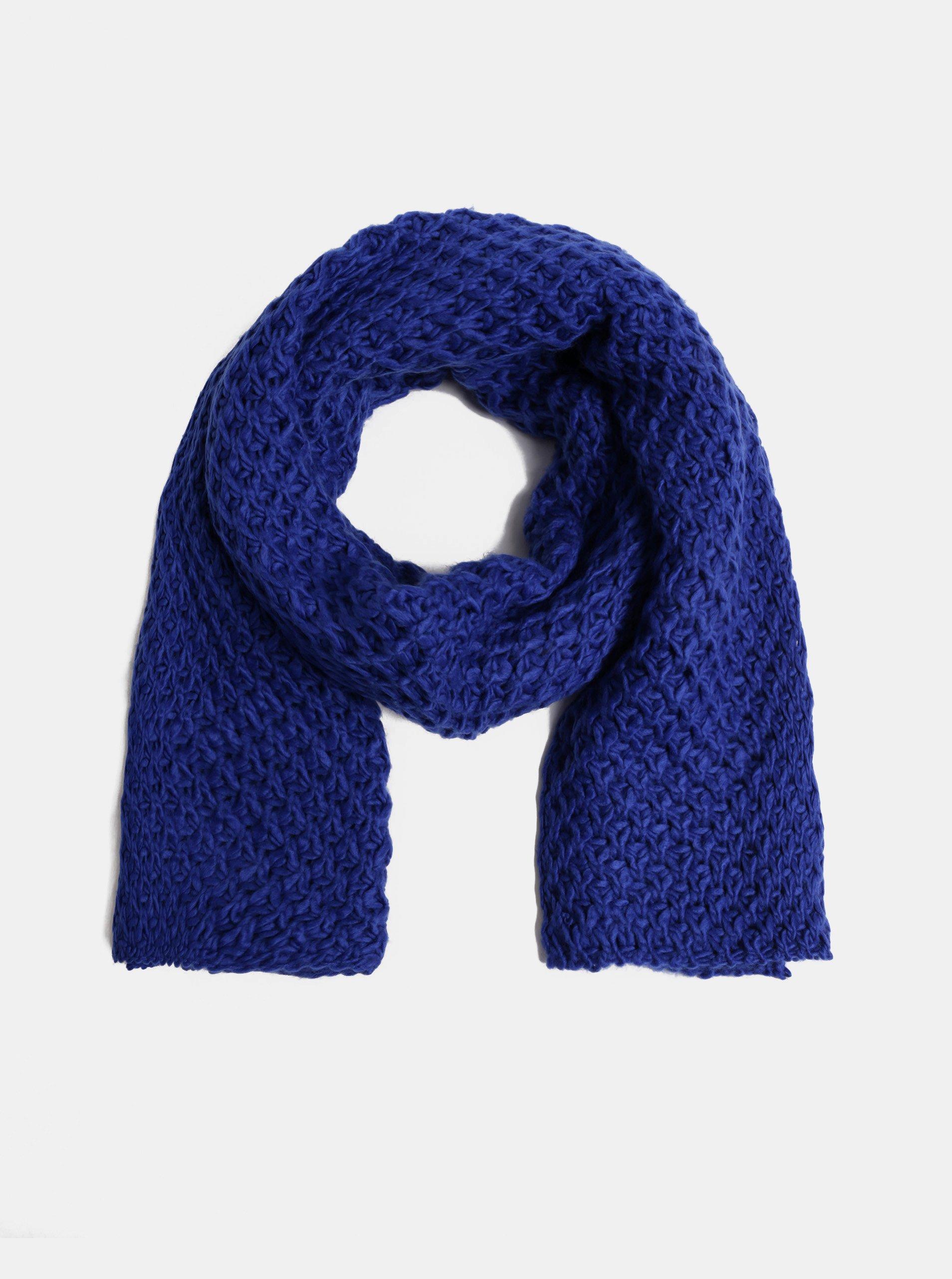b327675ee Tmavě modrá pletená šála ONLY Thona
