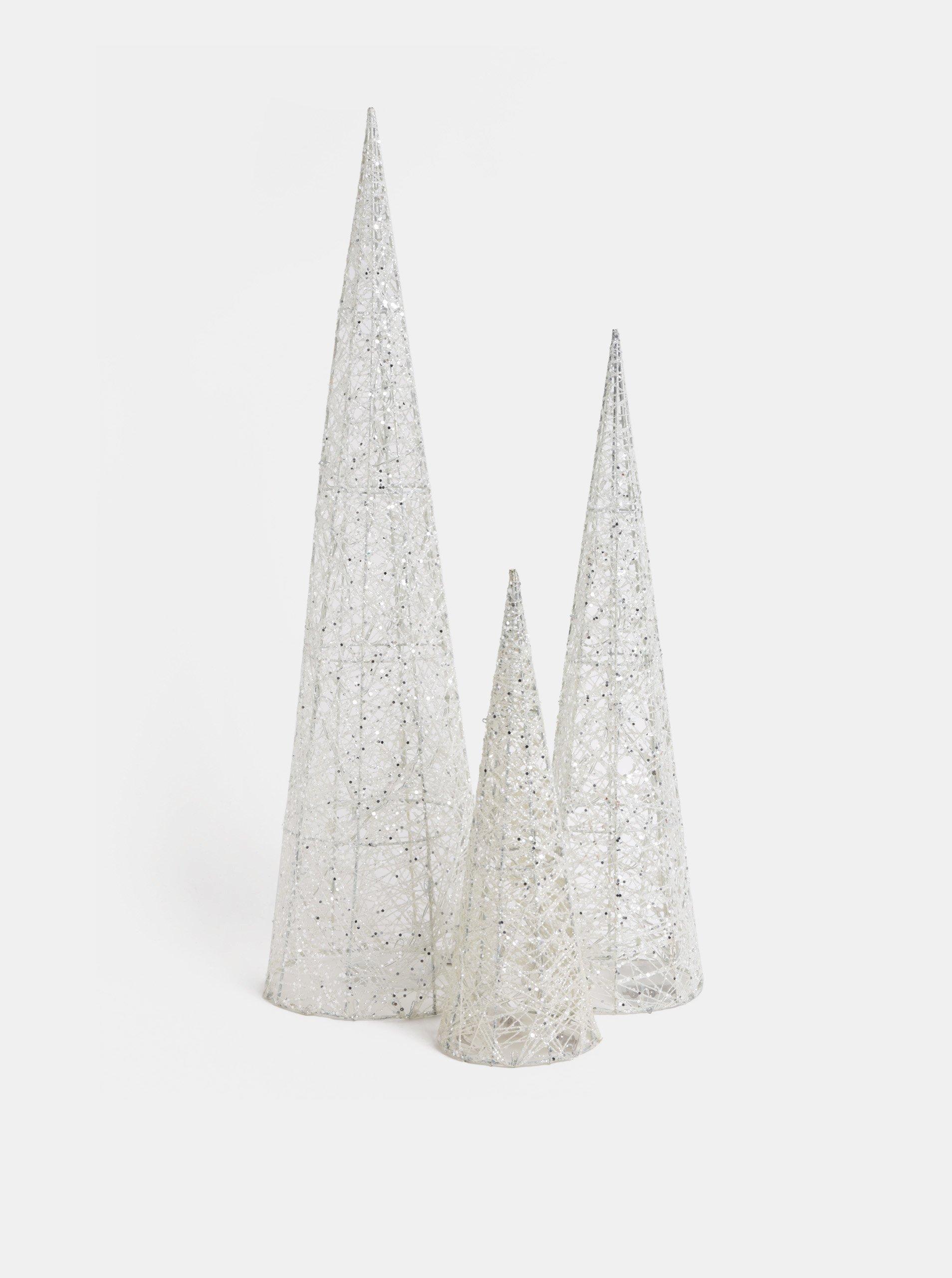 Biela kolekcia troch svietiacich stromov Dakls