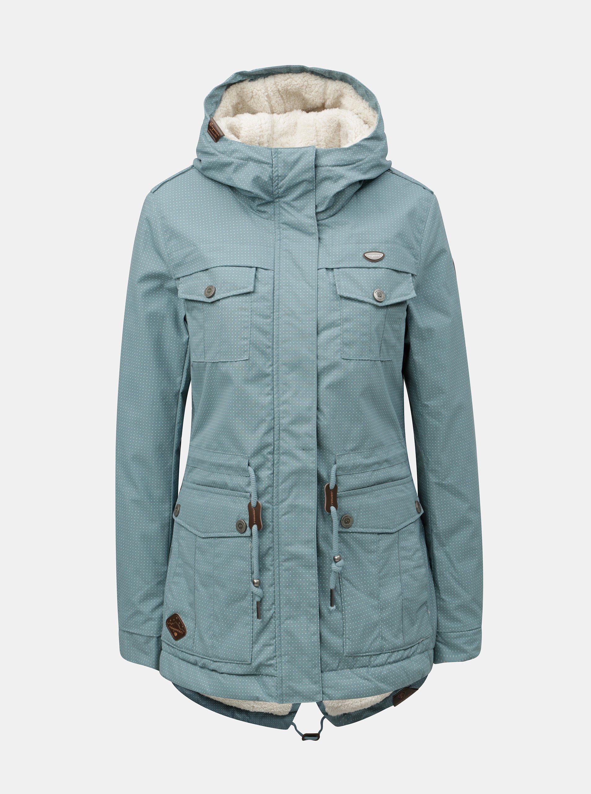 Modrá dámská zimní parka s kapucí Ragwear