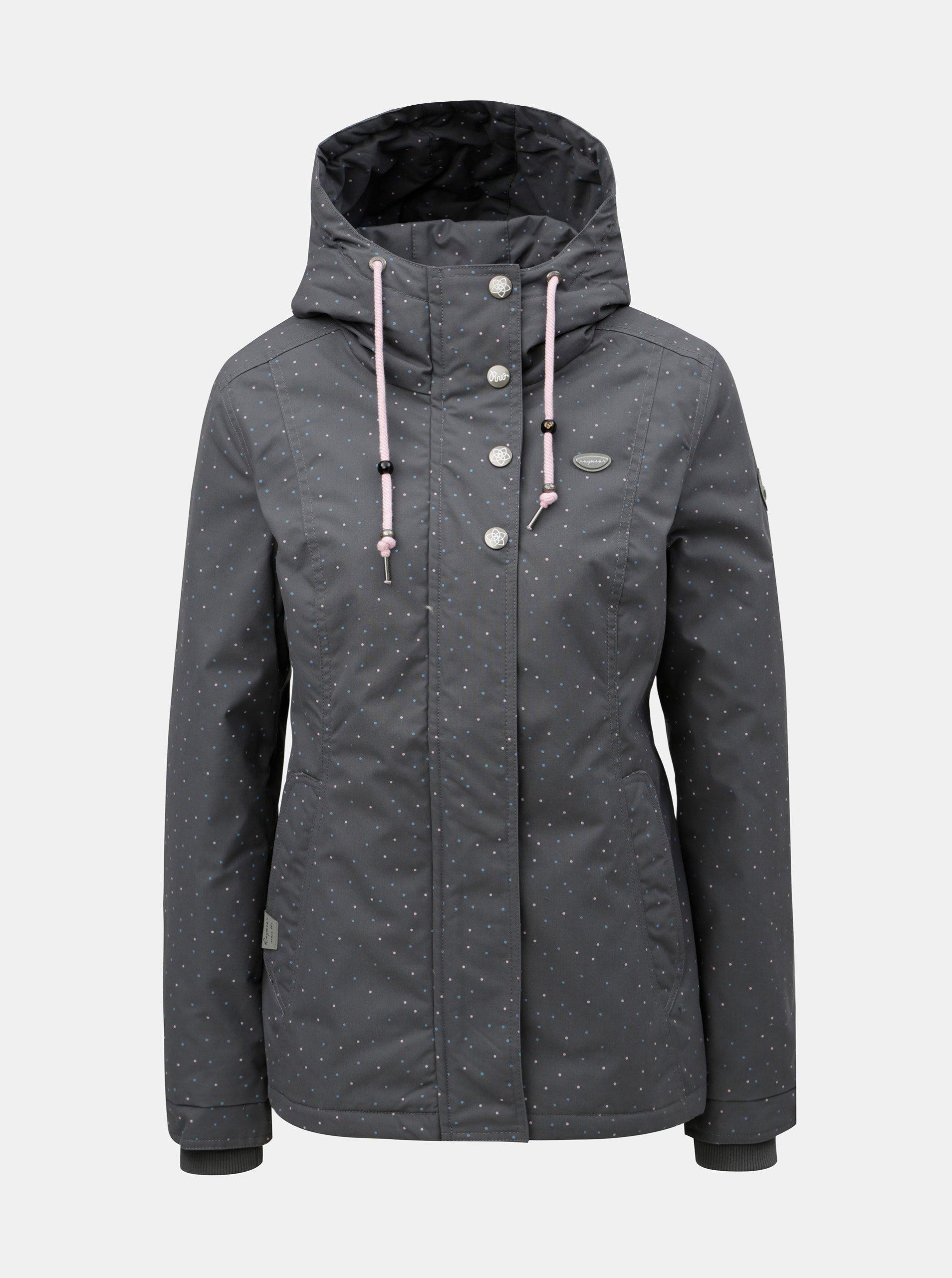 Šedá dámská zimní bunda Ragwear