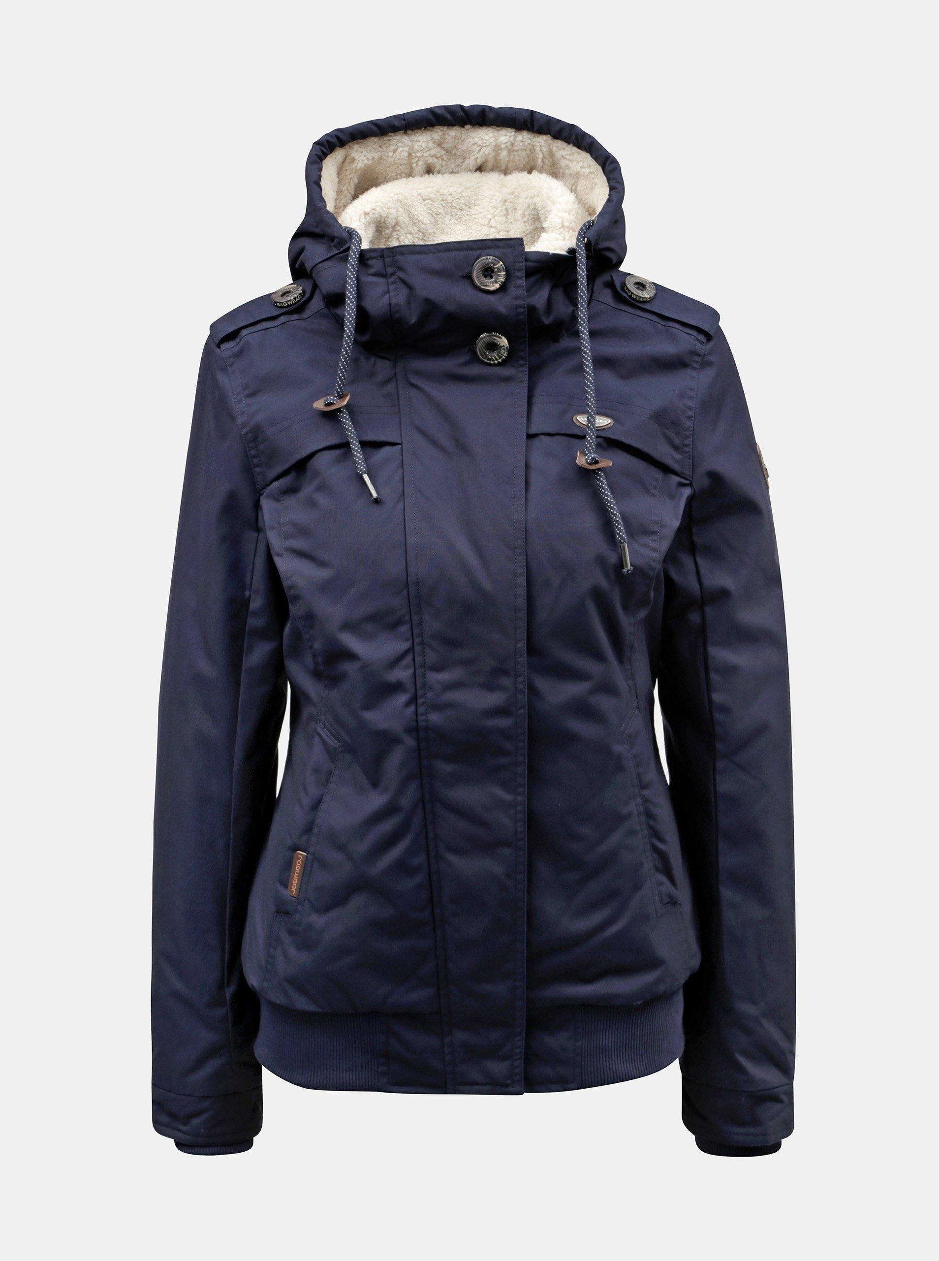 Tmavomodrá dámska zimná bunda Ragwear