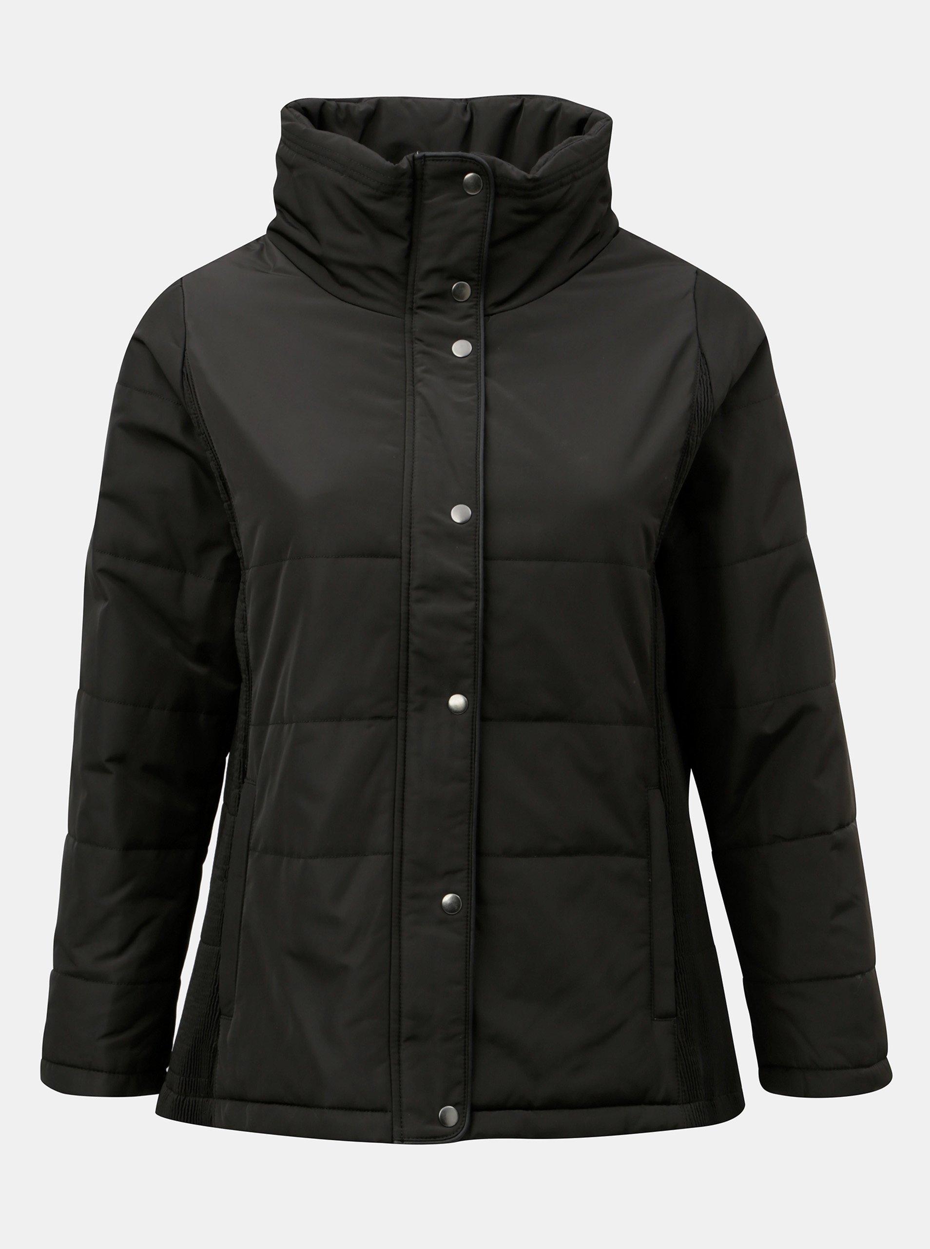 Čierna zimná bunda Zizzi