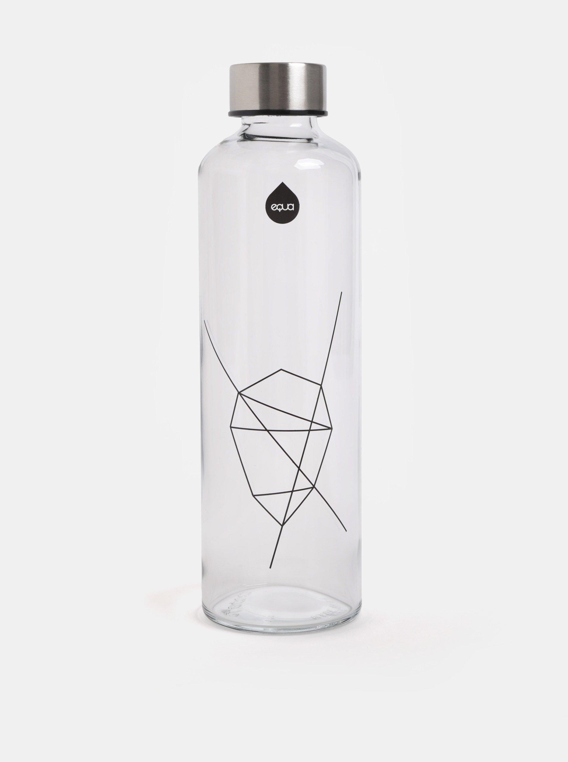 Skleněná lahev s víčkem ve stříbrné barvě EQUA 750 ml Equa