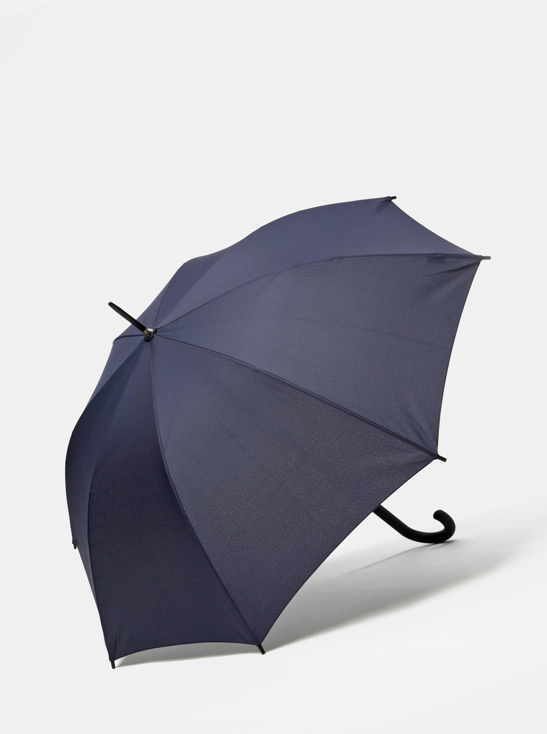 Tmavě modrý holový vystřelovací deštník Doppler Lang Hit