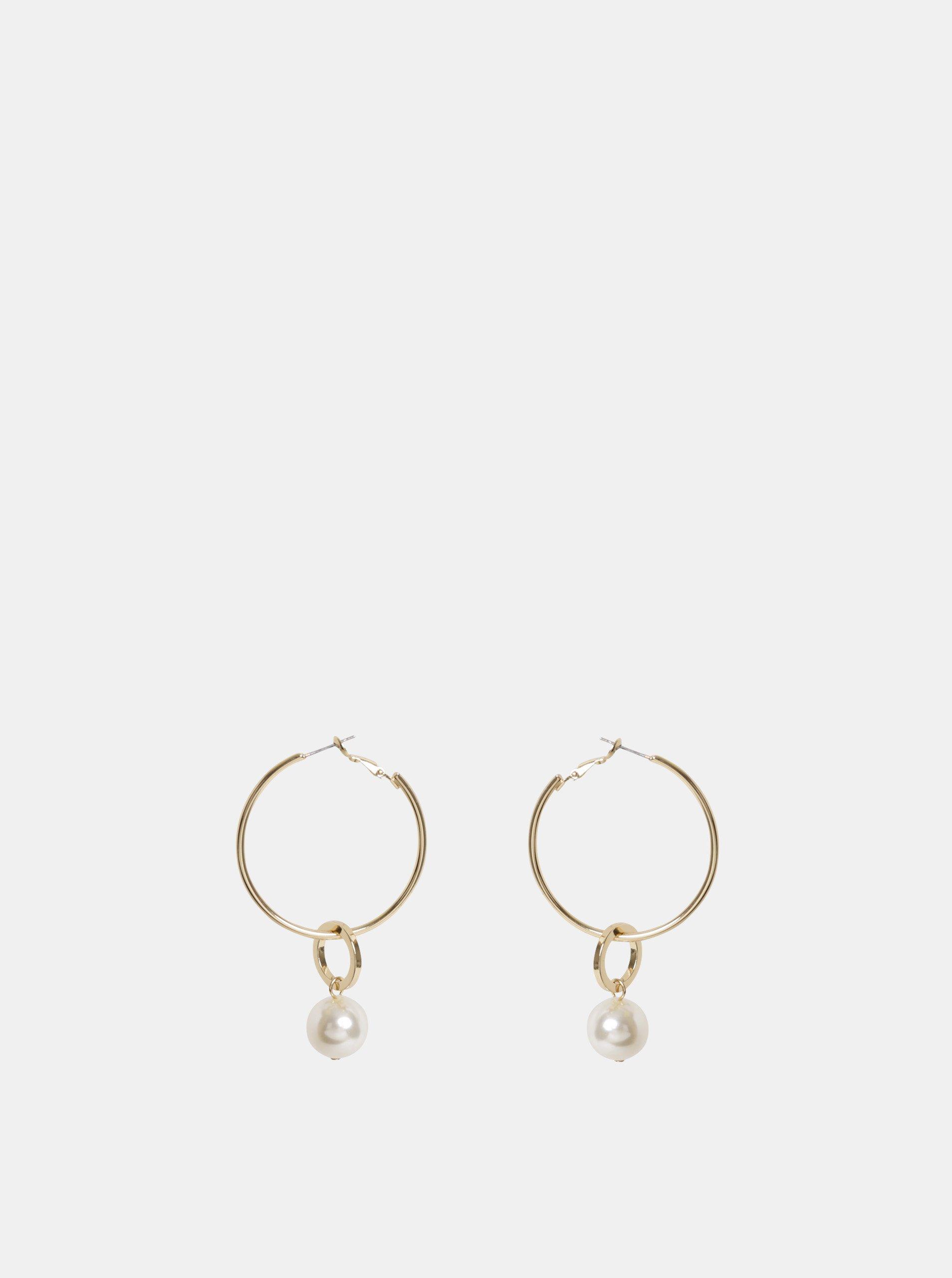 68a436590 Kruhové náušnice ve zlaté barvě Pieces Mara