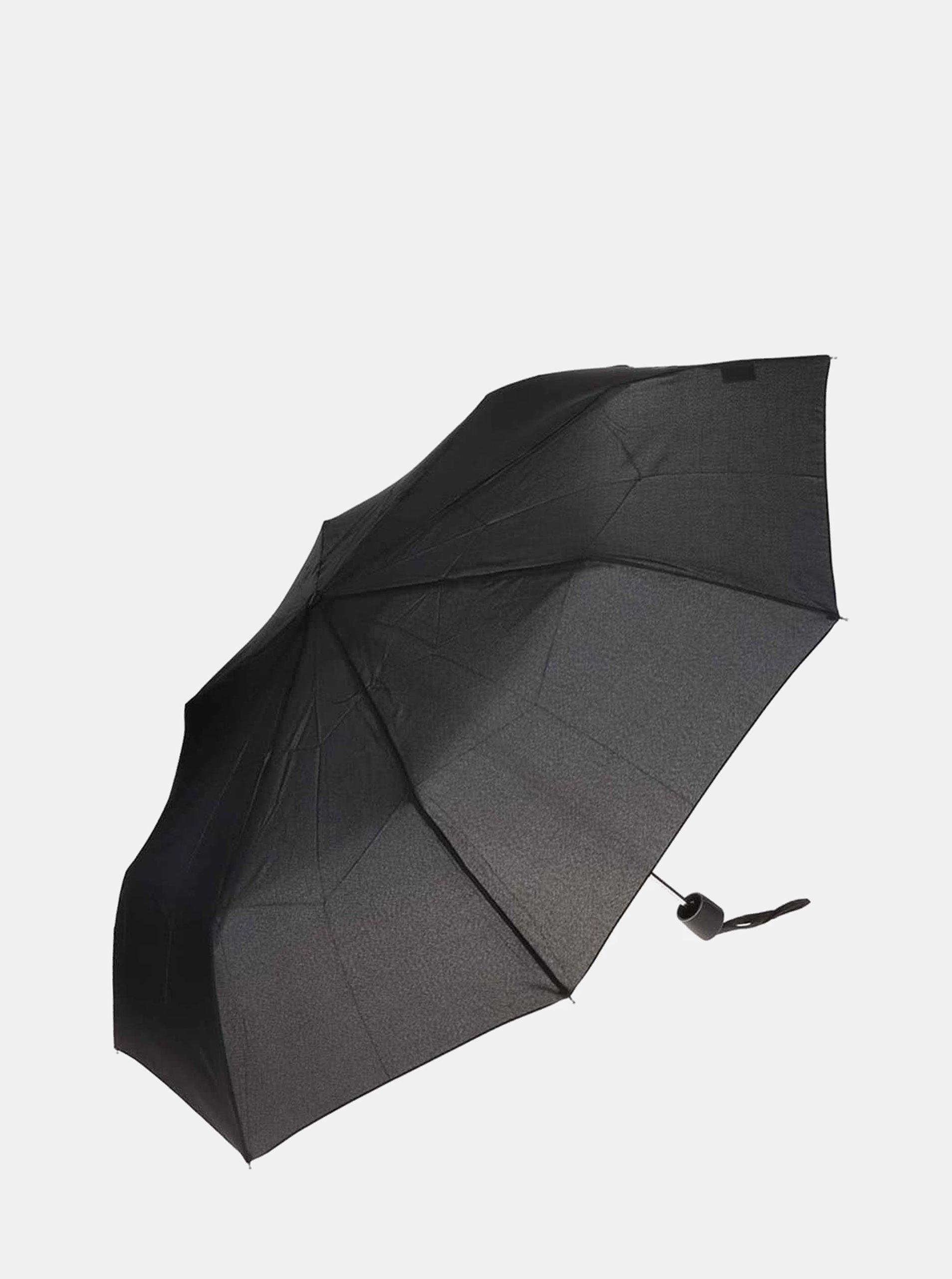 Černý skládací deštník Doppler