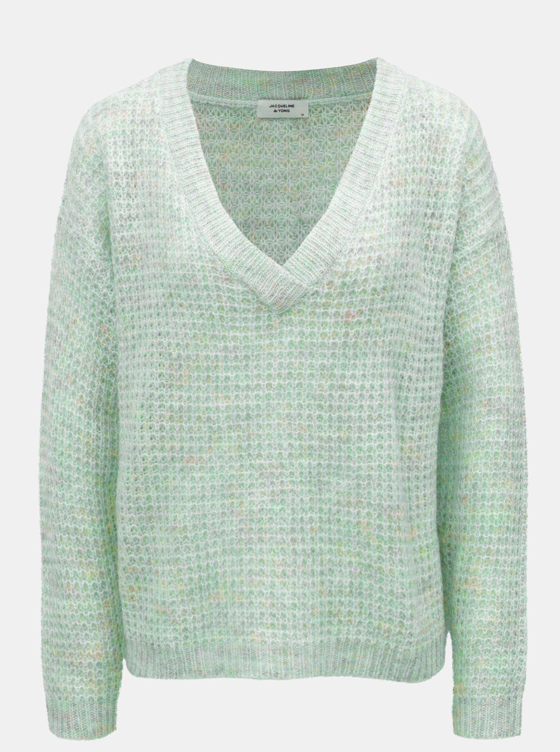 Světle zelený volný svetr Jacqueline de Yong Ivy