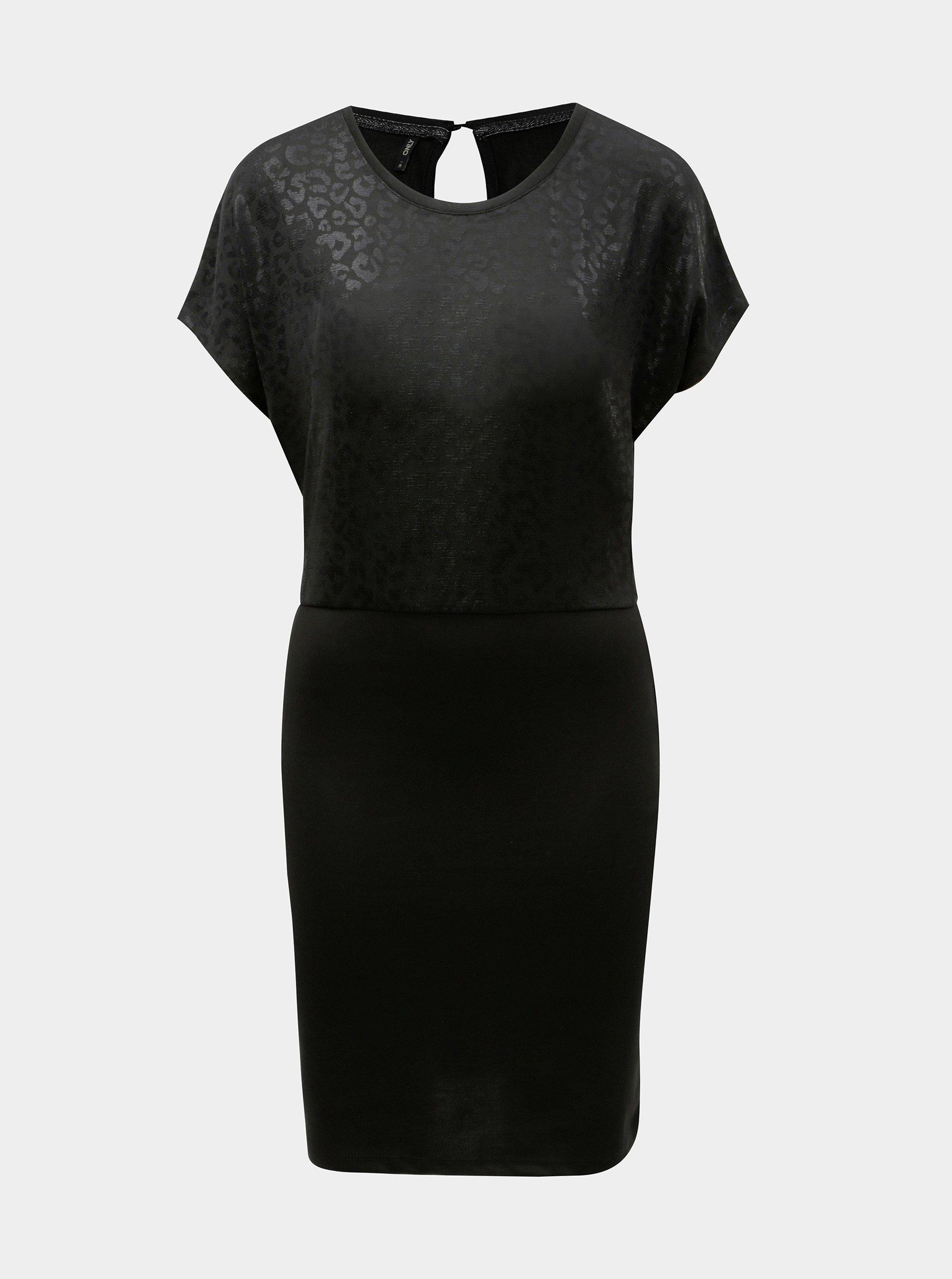 Černé pouzdrové šaty ONLY Plearl