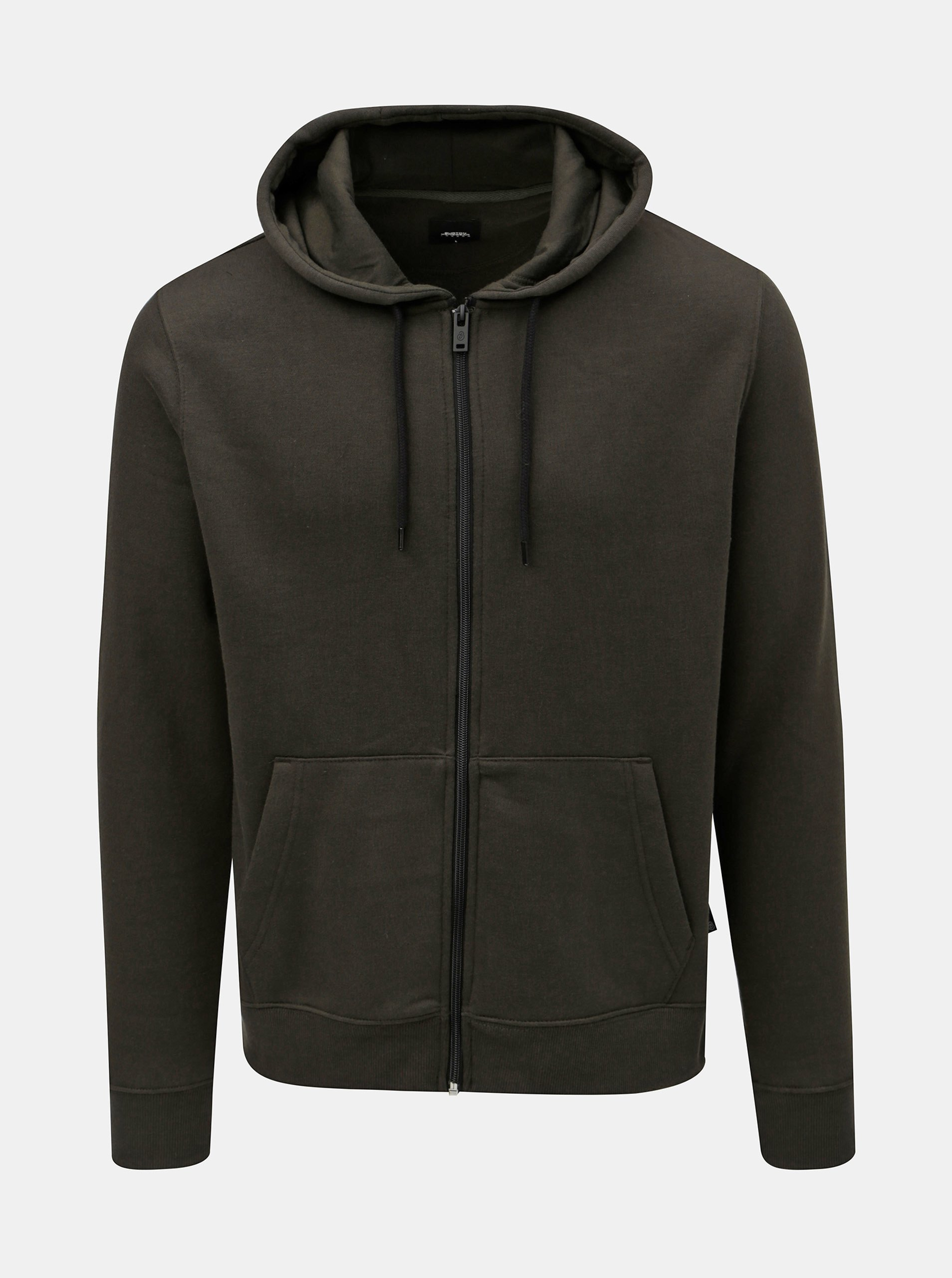 37b02c8a4b Khaki mikina s kapucí na zip Burton Menswear London