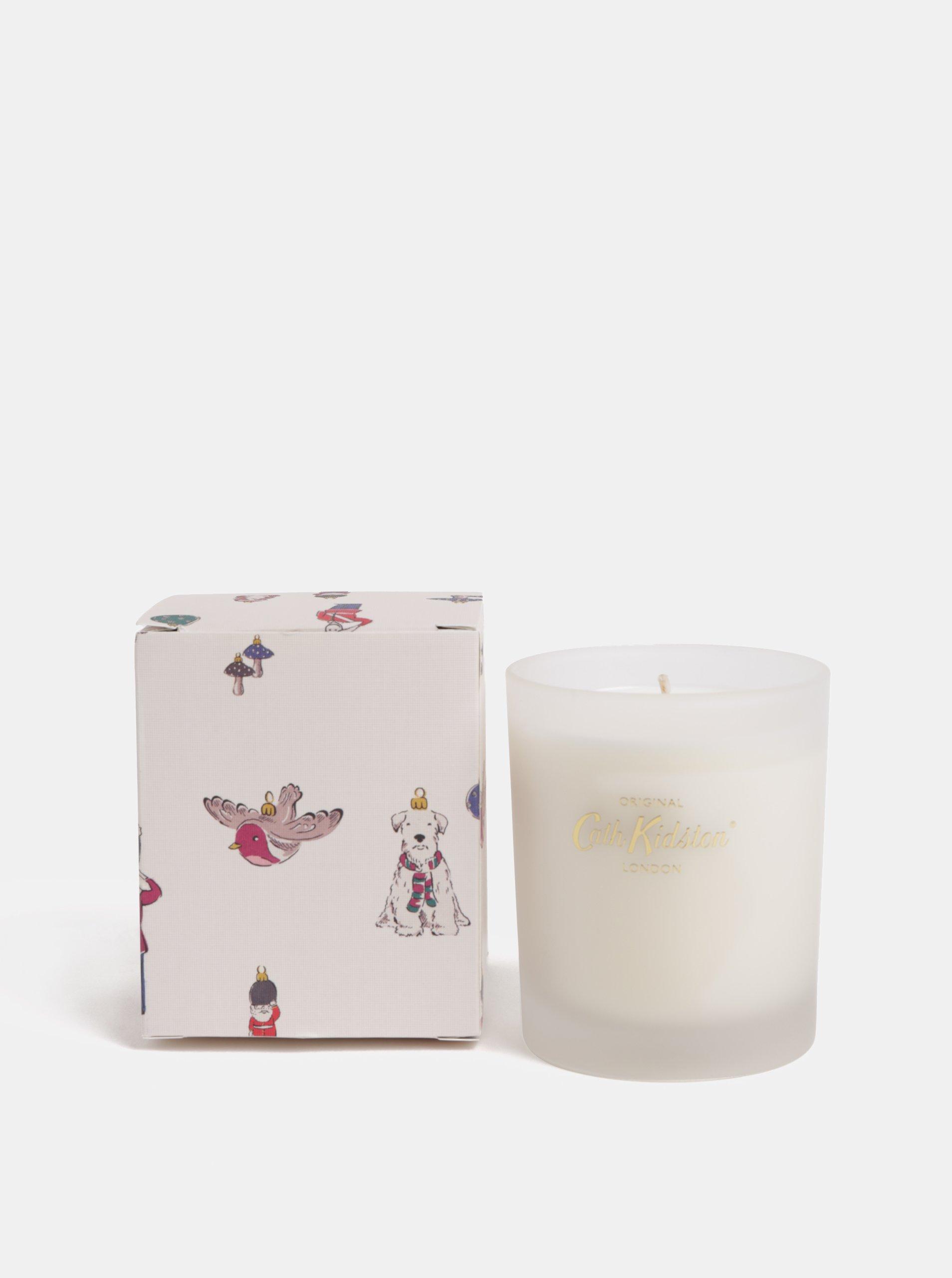 Krémová sójová sviečka s vianočnou vôňou v darčekovej škatuľke Cath Kidston