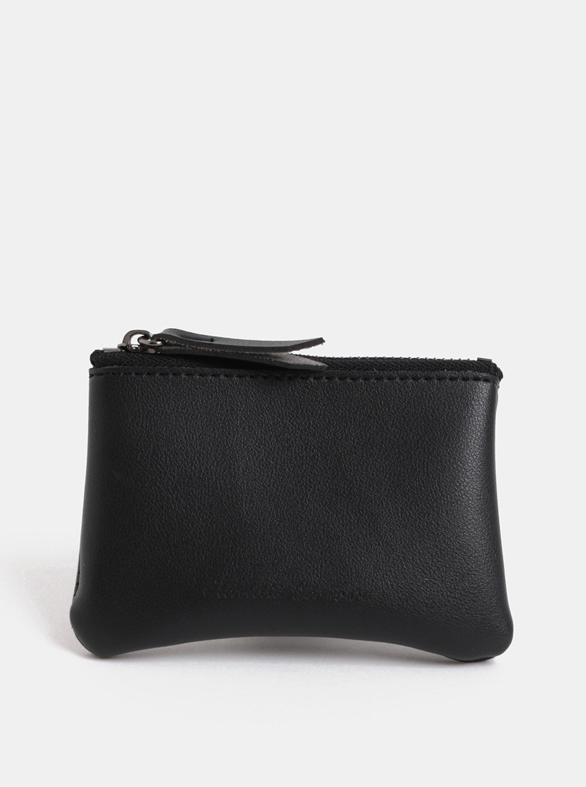 Čierna malá peňaženka na mince Claudia Canova Parry