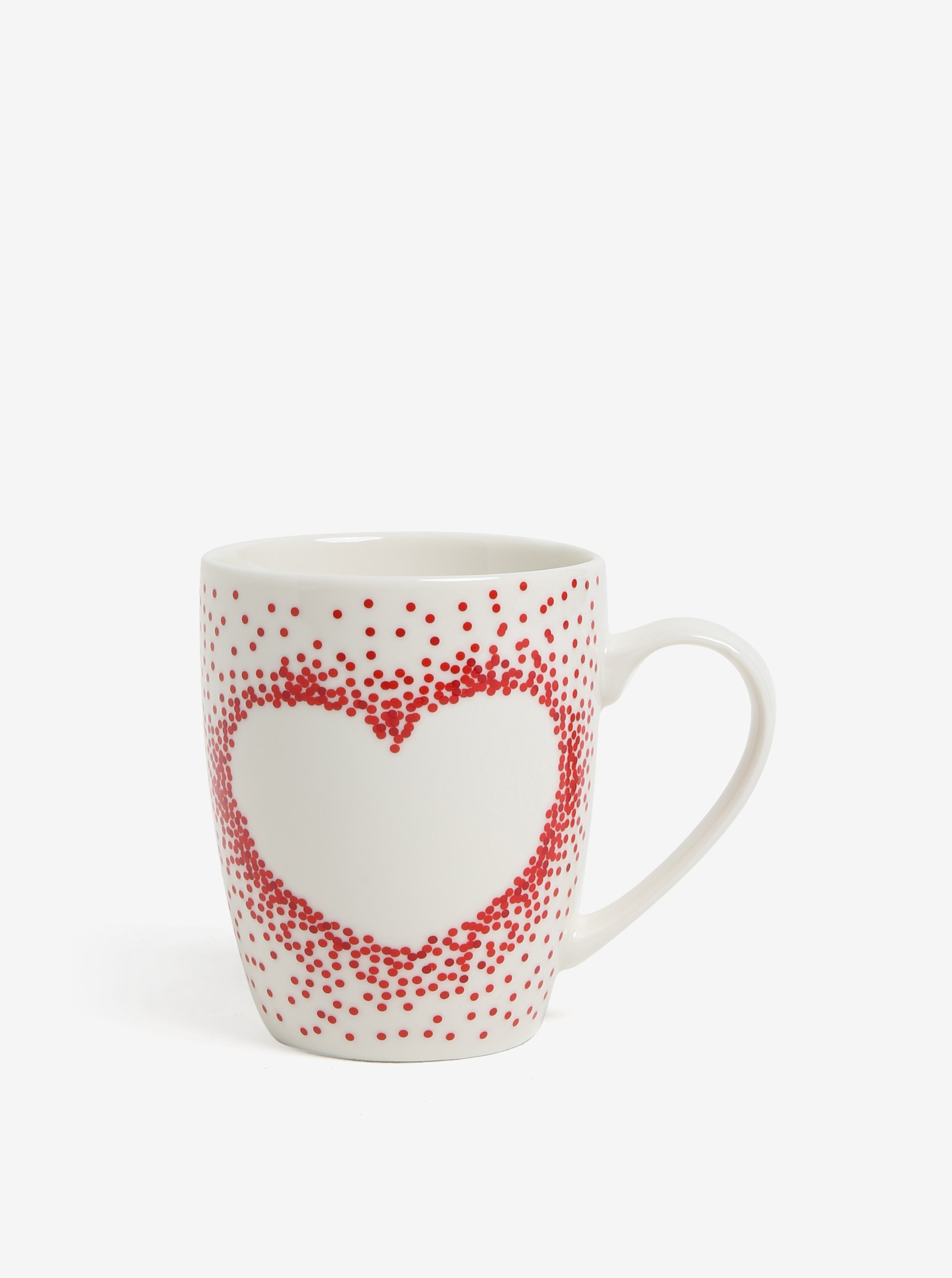 Krémový porcelánový hrnek s motivem srdce Kaemingk