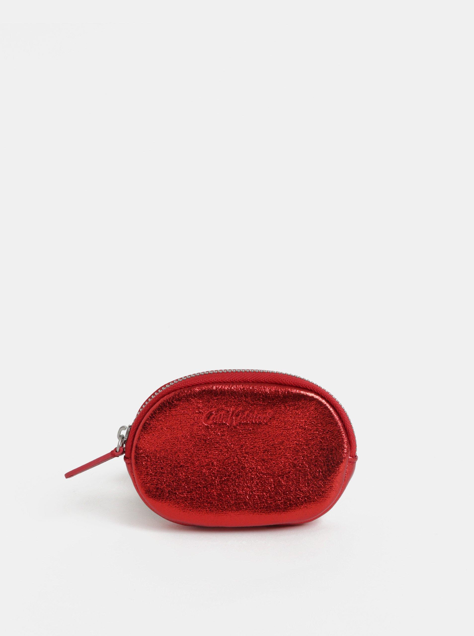 Červená dámská třpytivá peněženka na mince Cath Kidston