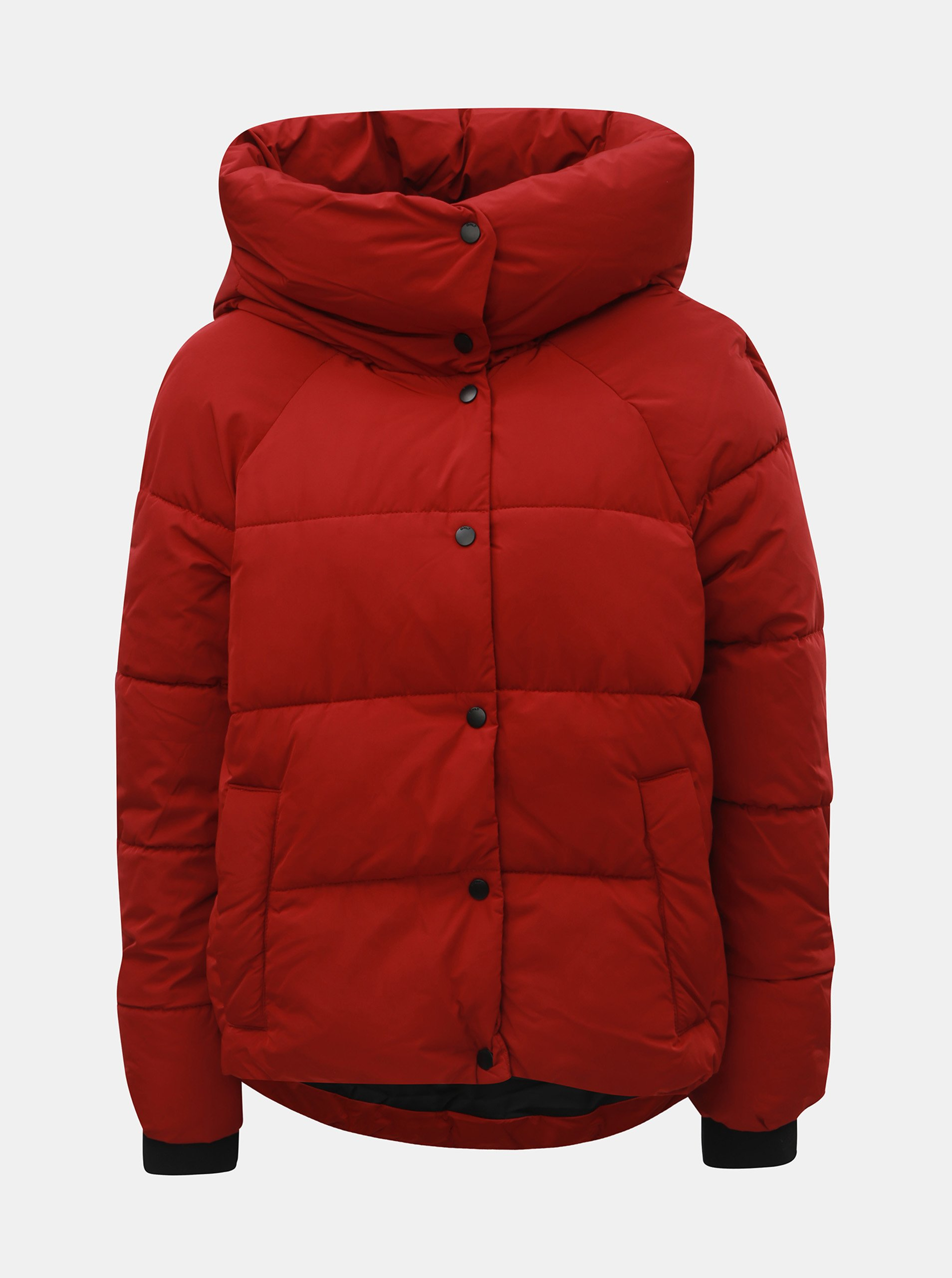 Červená zimná prešívaná bunda ONLY Mari