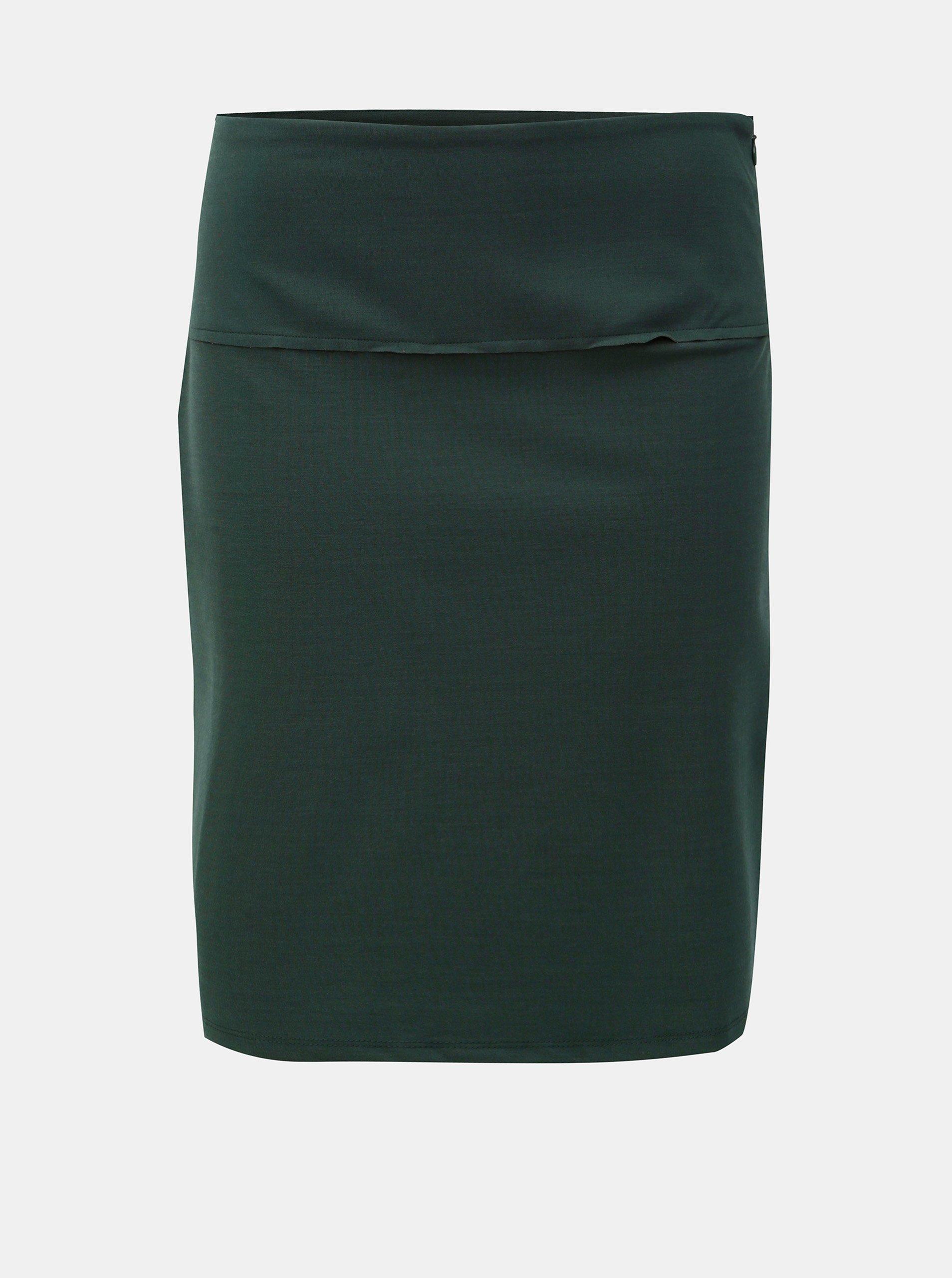 Tmavě zelená krátká sukně SKFK Kelby