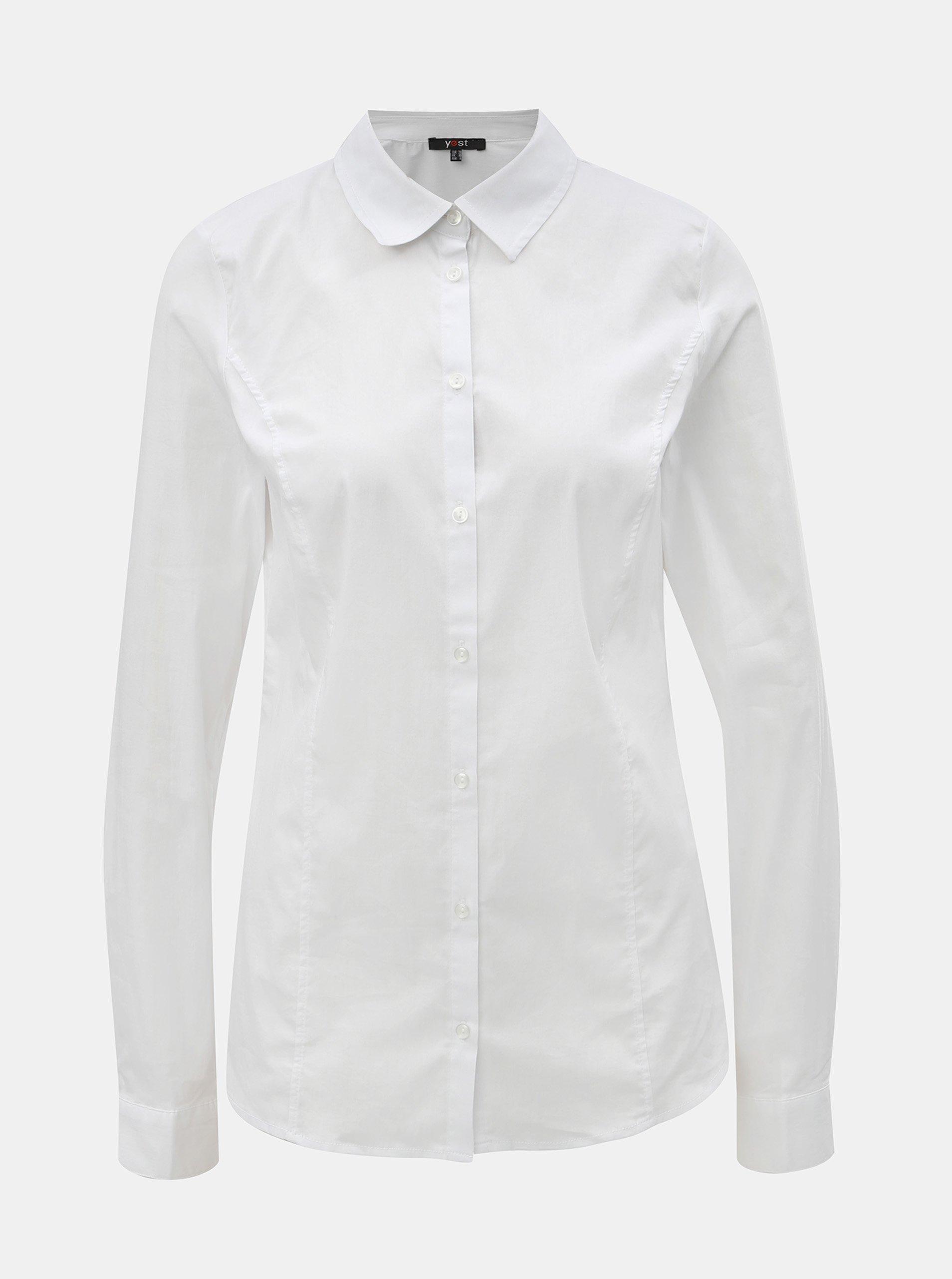 Bílá košile s dlouhým rukávem Yest