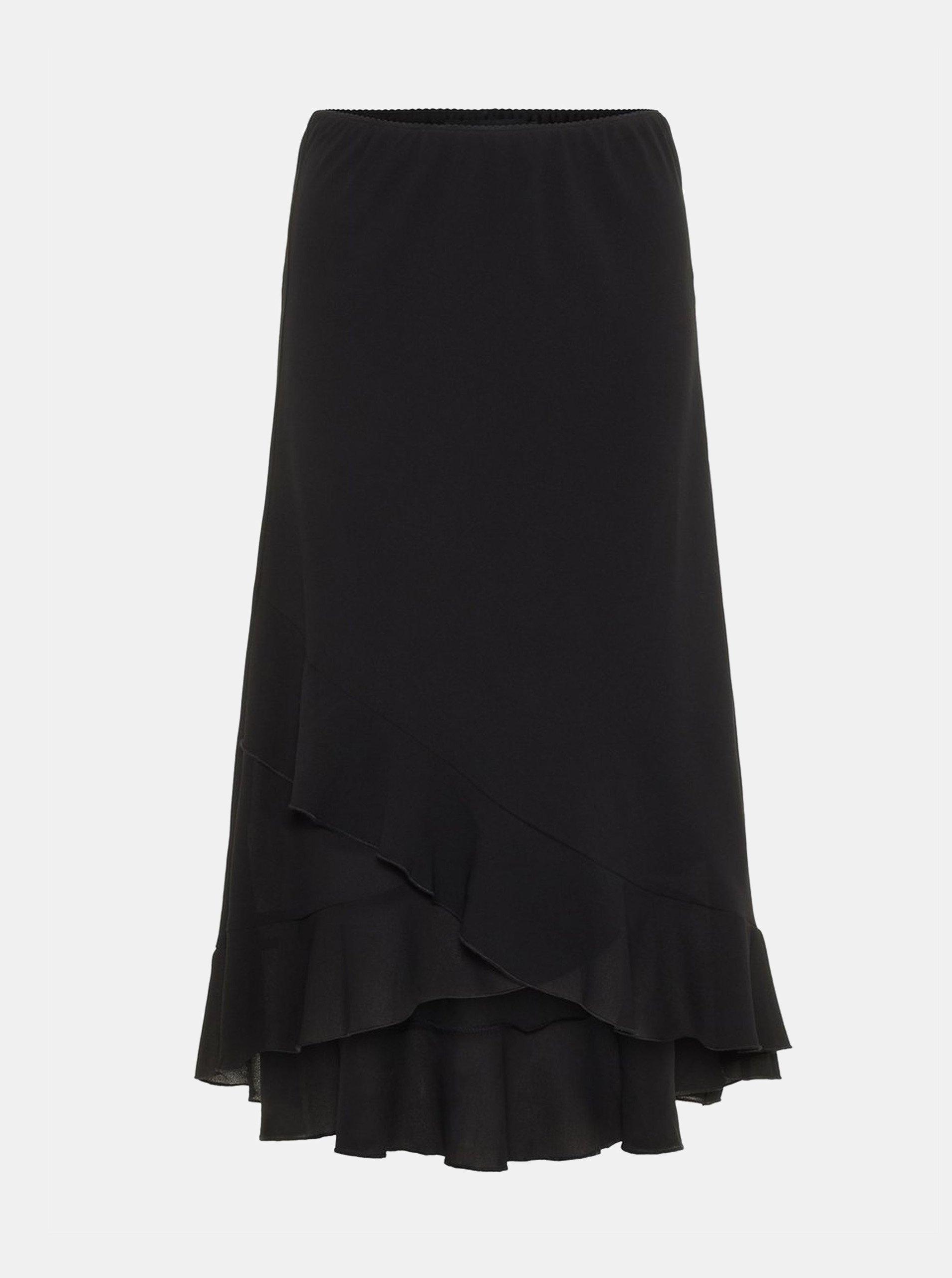 Černá sukně s volány VERO MODA Valentina