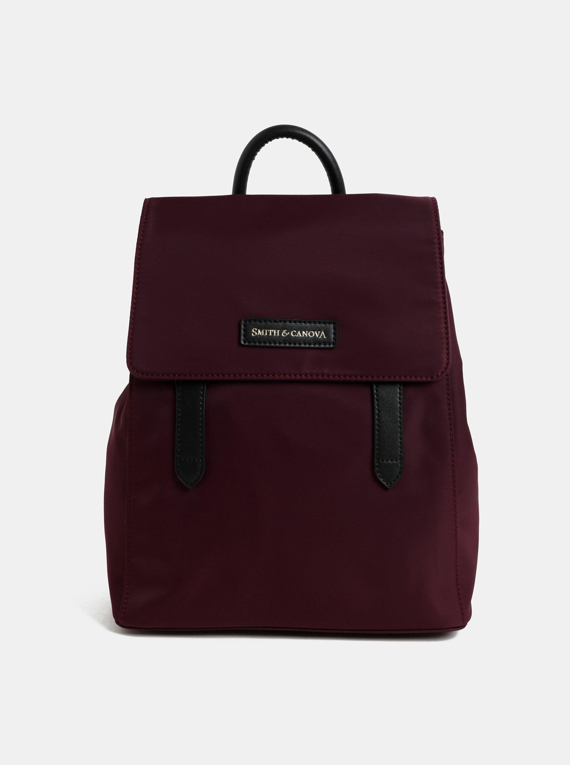 0d9d47811a Vínový batoh s koženými detaily Smith   Canova