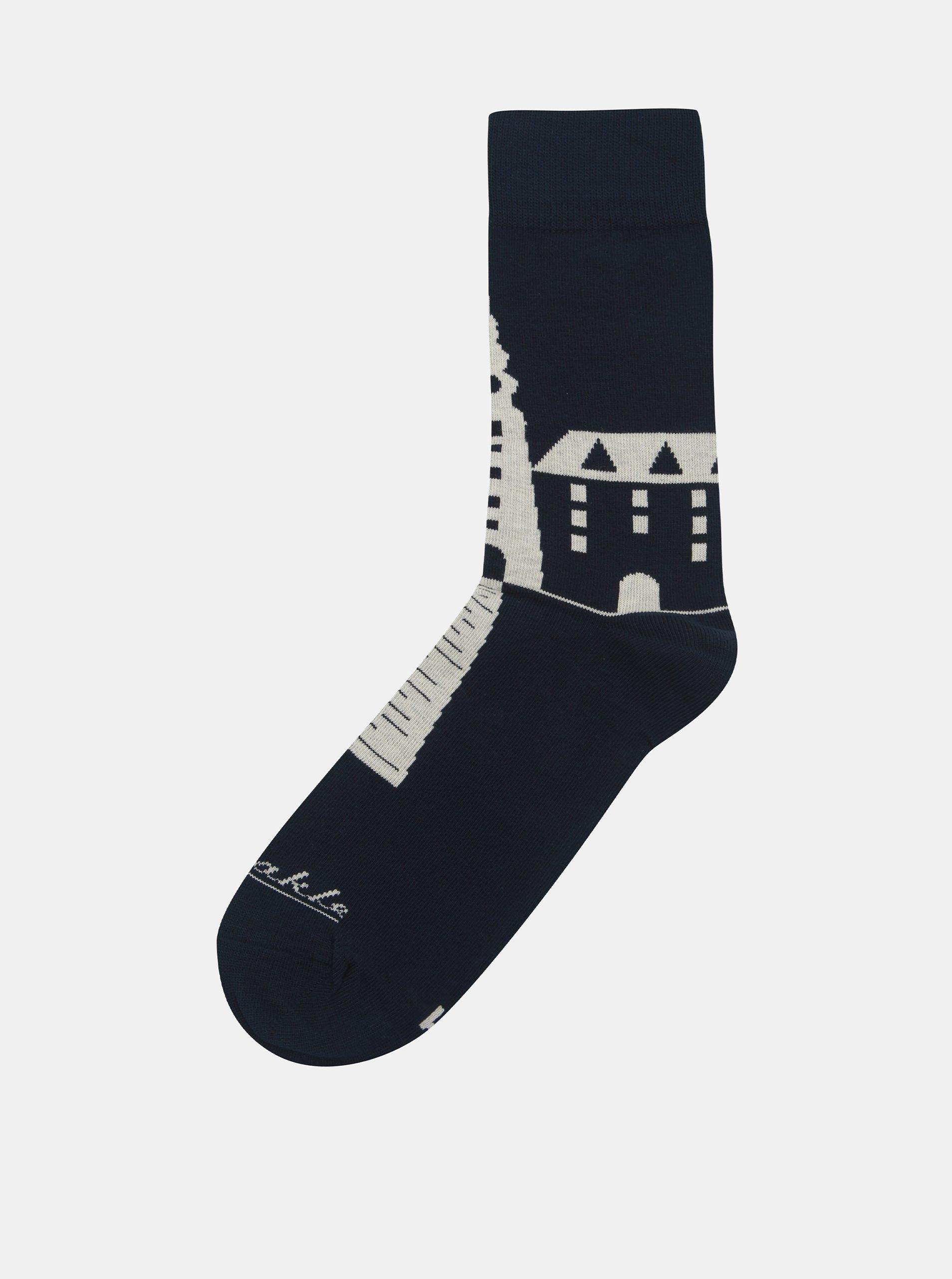 Tmavě modré ponožky se slovenskými dominantami Fusakle Michalská veža