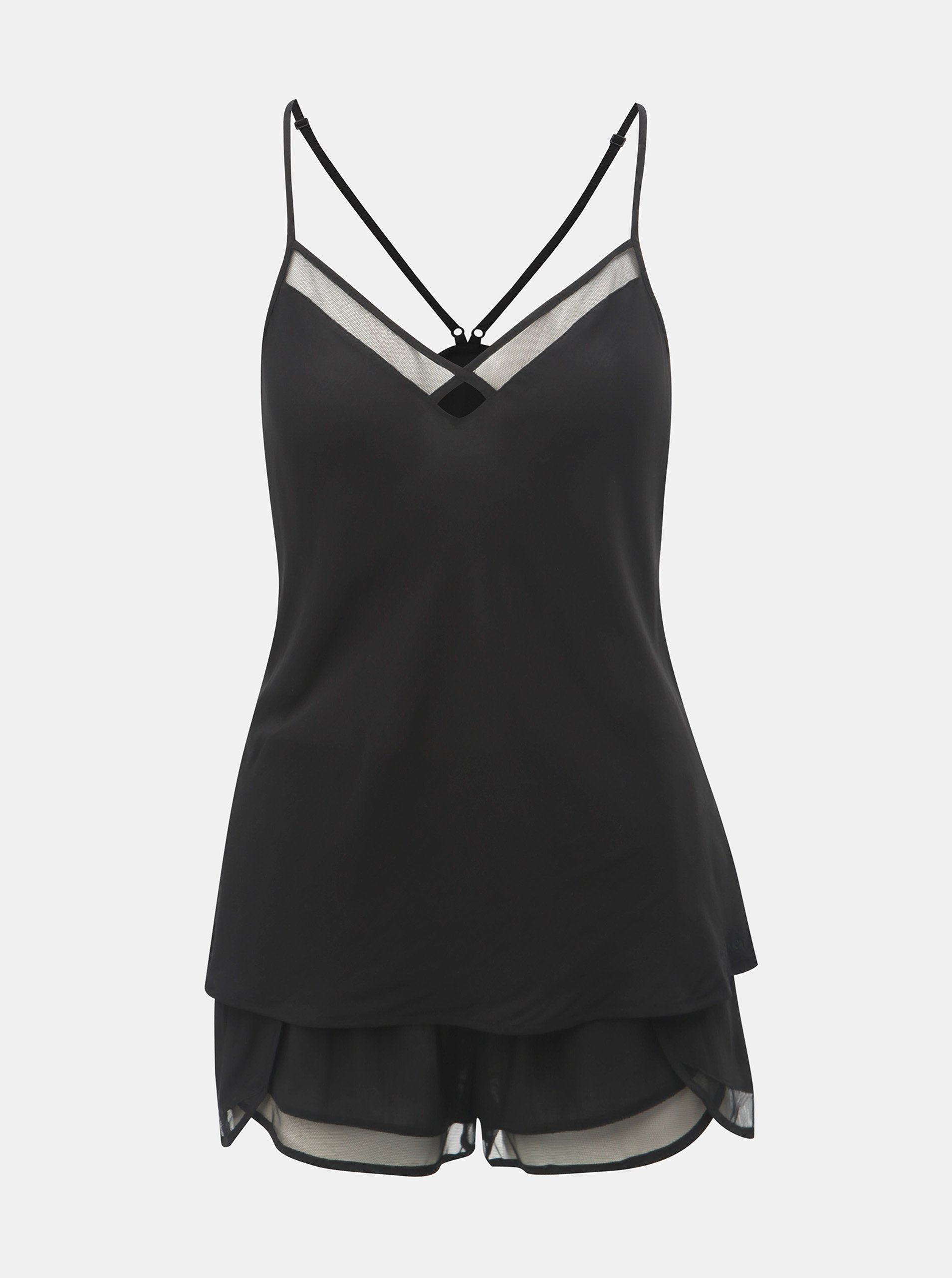 Čierne dámske dvojdielne pyžamo Calvin Klein Underwear