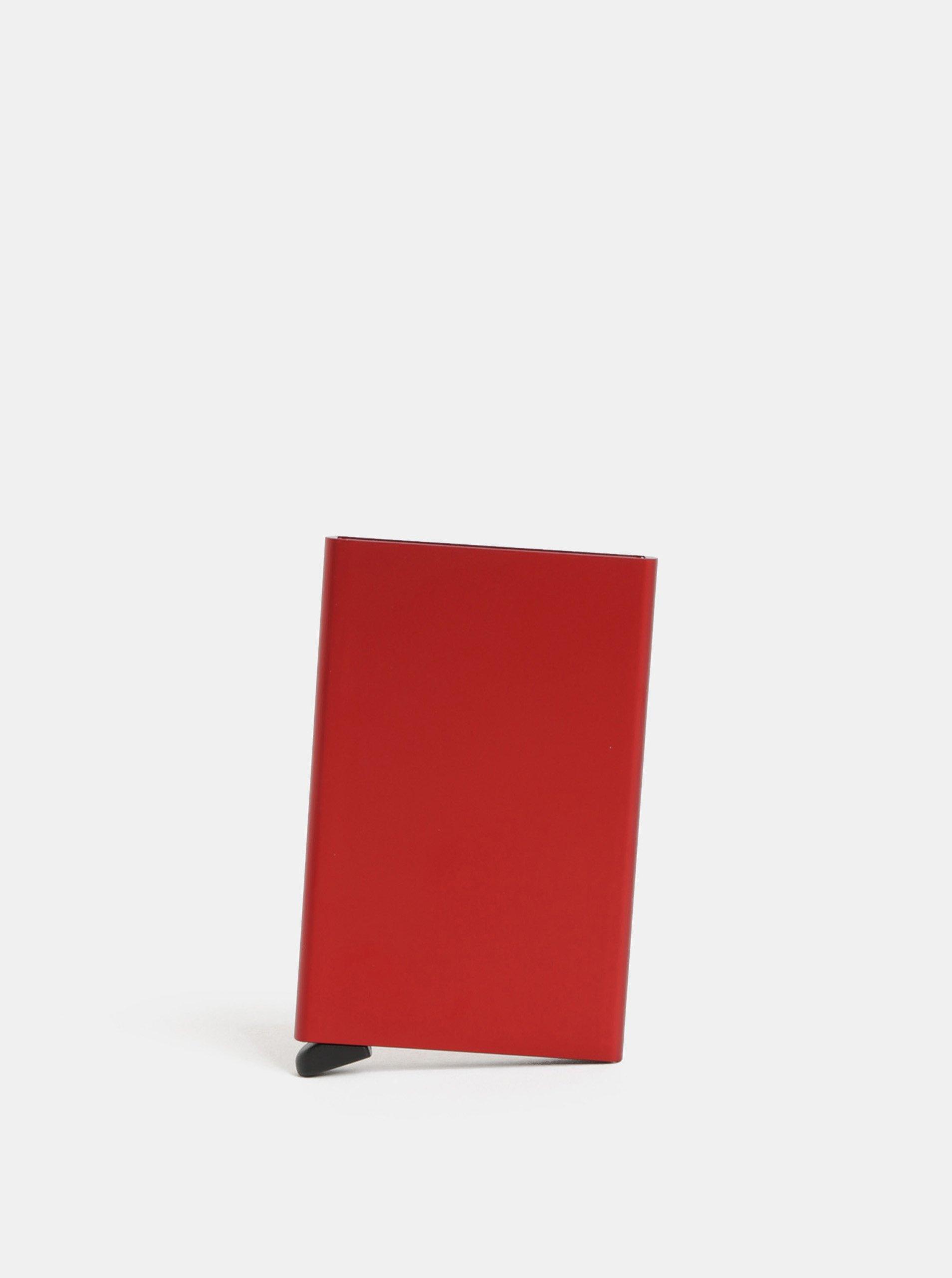 Červené puzdro na karty Secrid Cardprotector