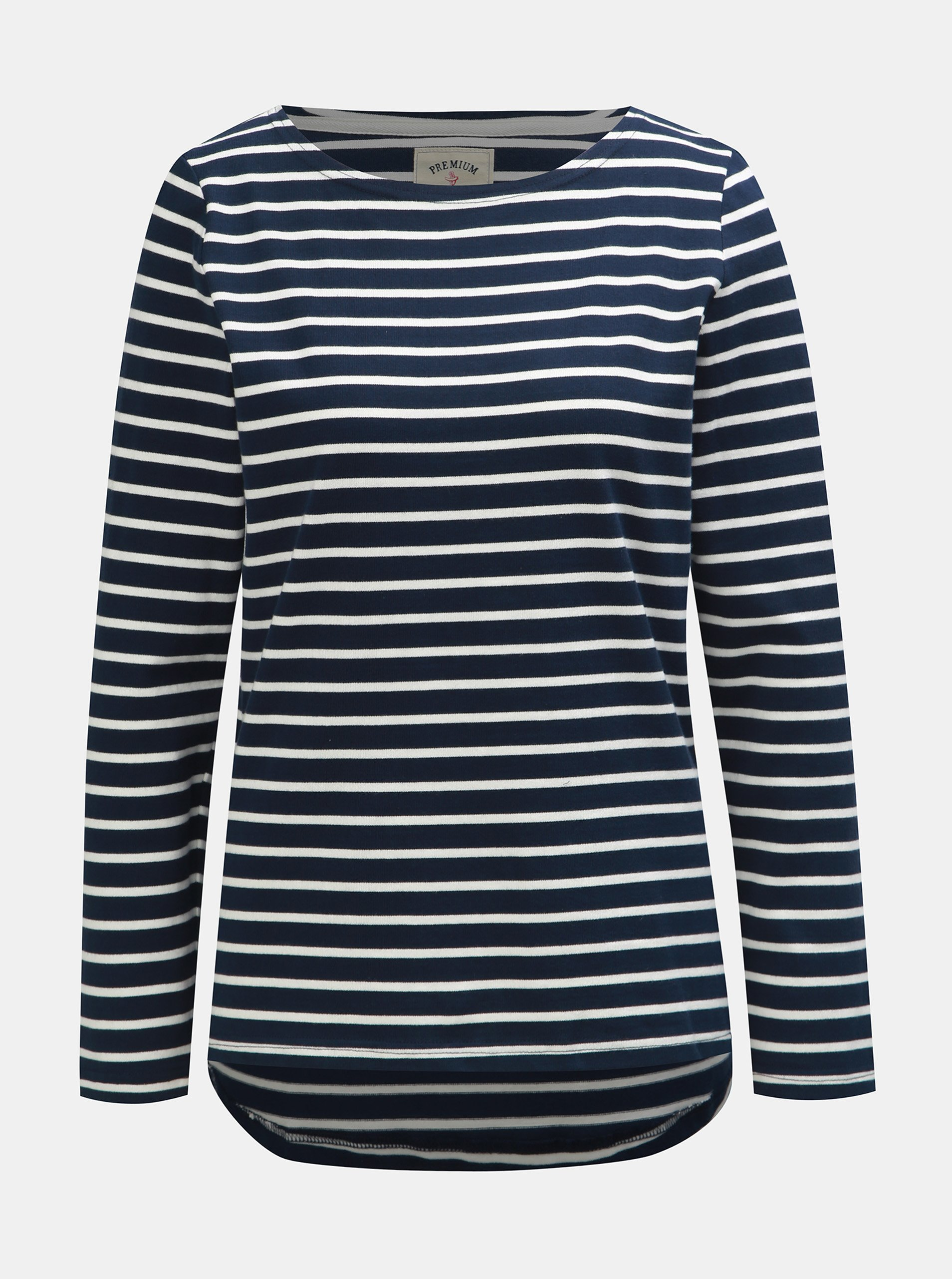 b640750641c Bílo-modrý dámský pruhovaný lehký svetr Tom Joule