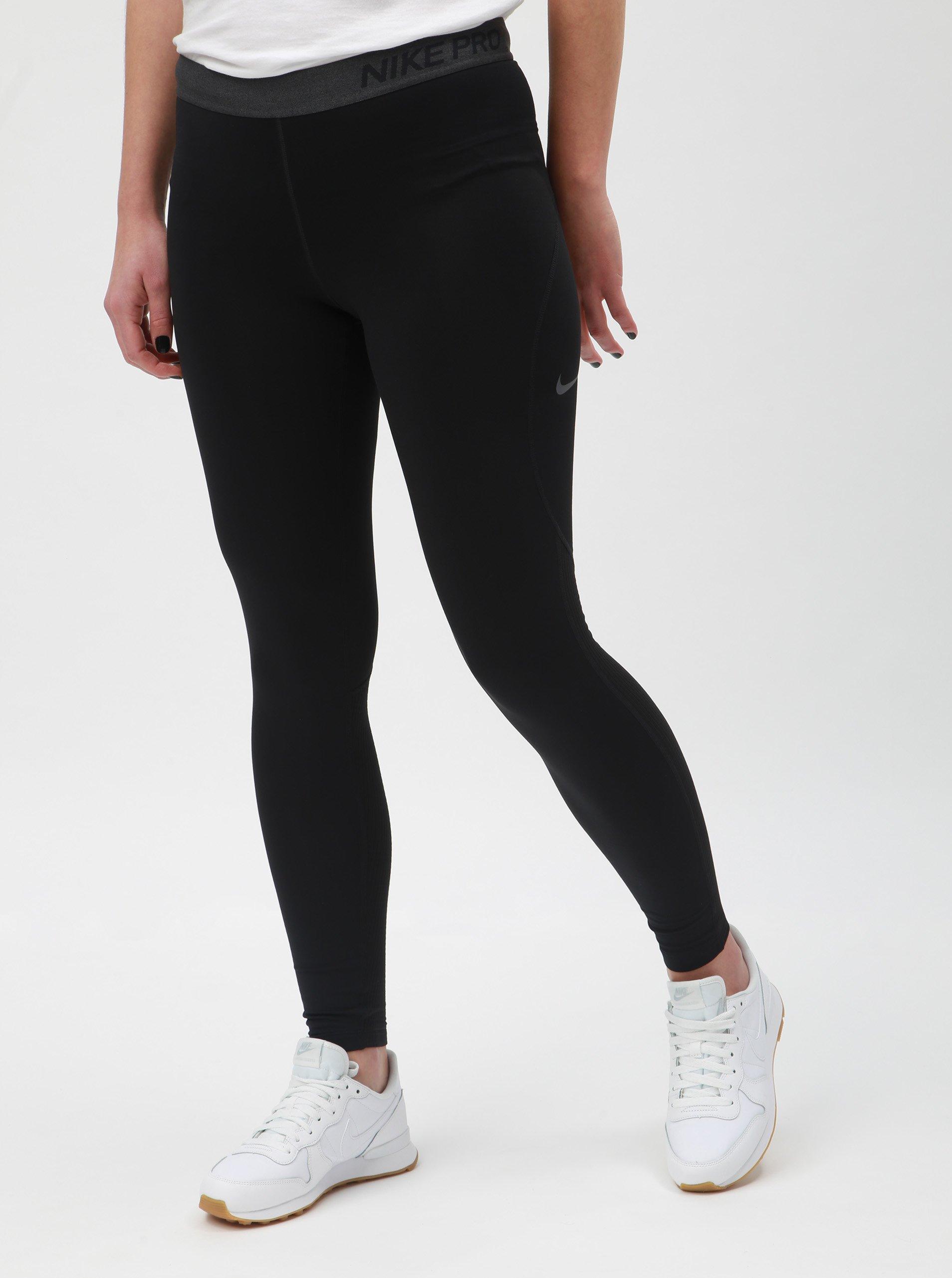 Čierne dámske funkčné legíny Nike