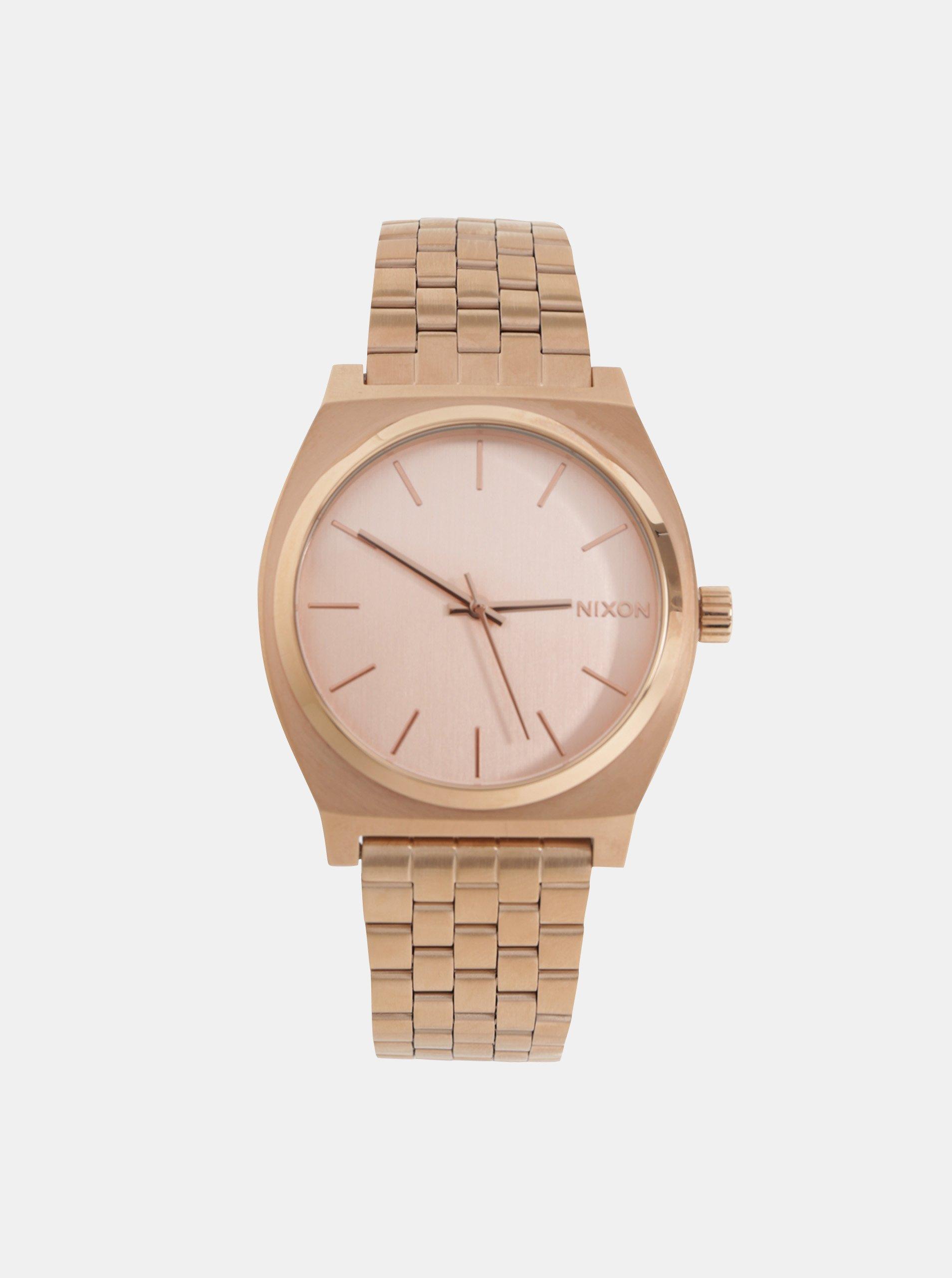 9aaf2bb78 Dámské hodinky s nerezovým páskem v růžovozlaté barvě Nixon