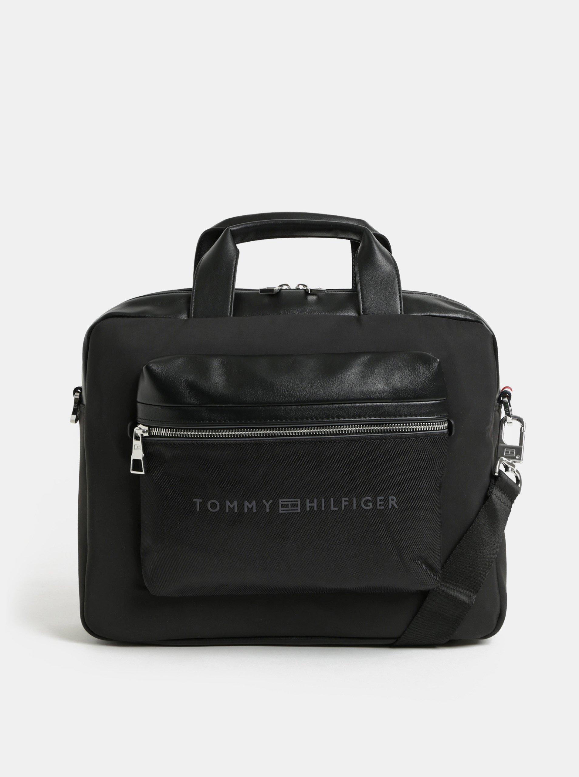 e68f9c645f Černá pánská taška na notebook s odnímatelným popruhem Tommy Hilfiger