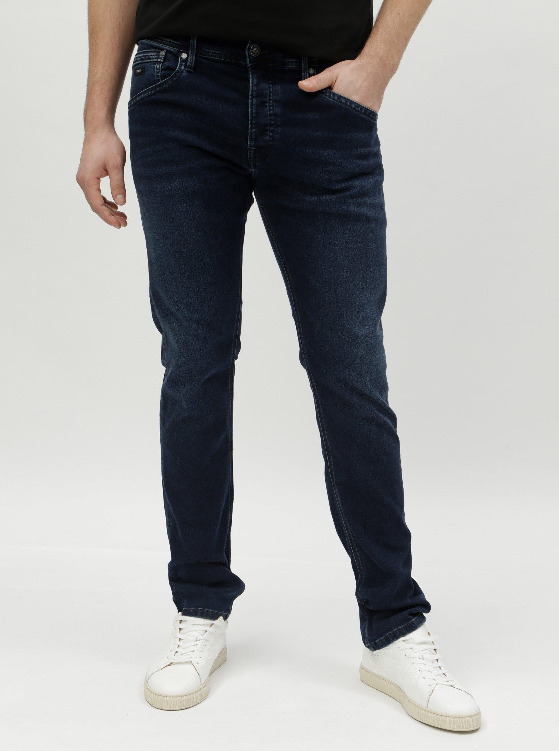 Fotografie Tmavě modré pánské regular džíny Pepe Jeans