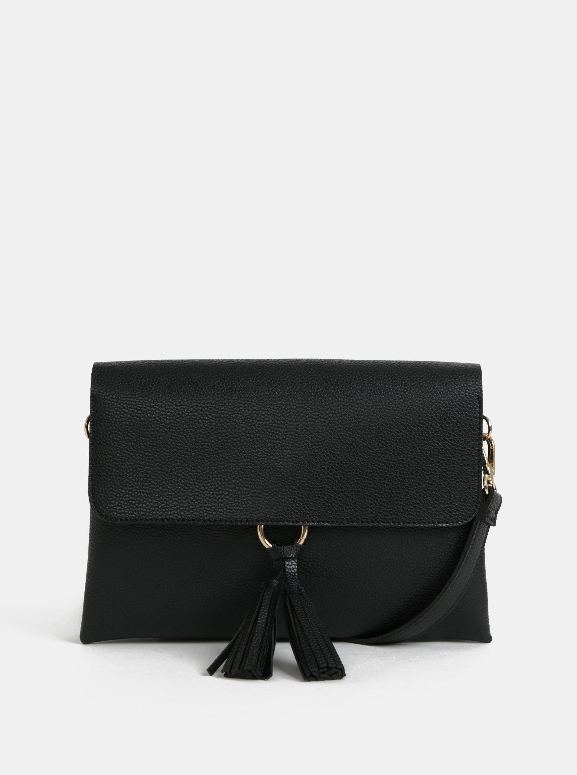 15b77555b9 Černá crossbody kabelka s třásněmi Dorothy Perkins