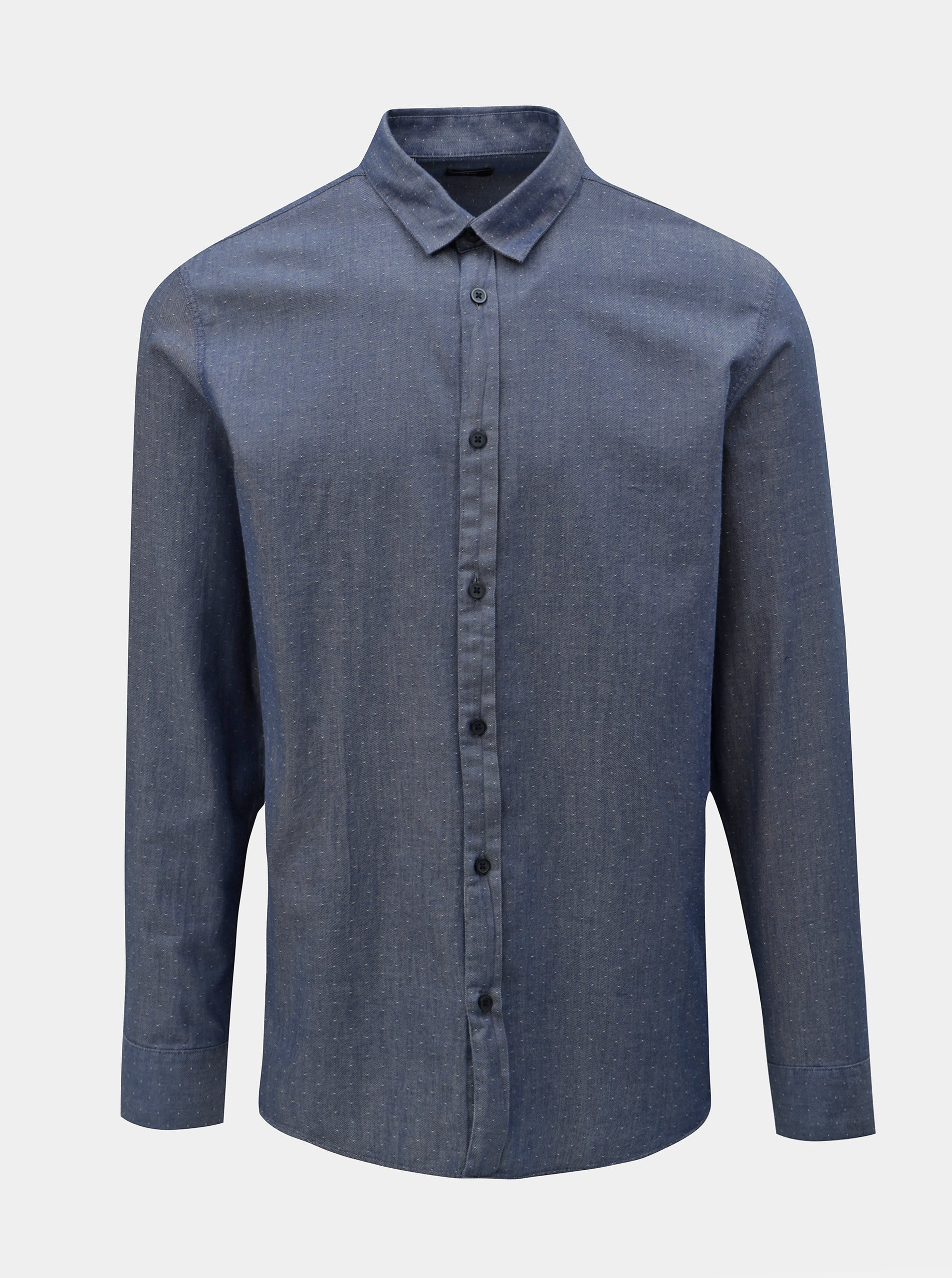 Modrá slim fit košile s drobným vzorem Selected Homme Kris