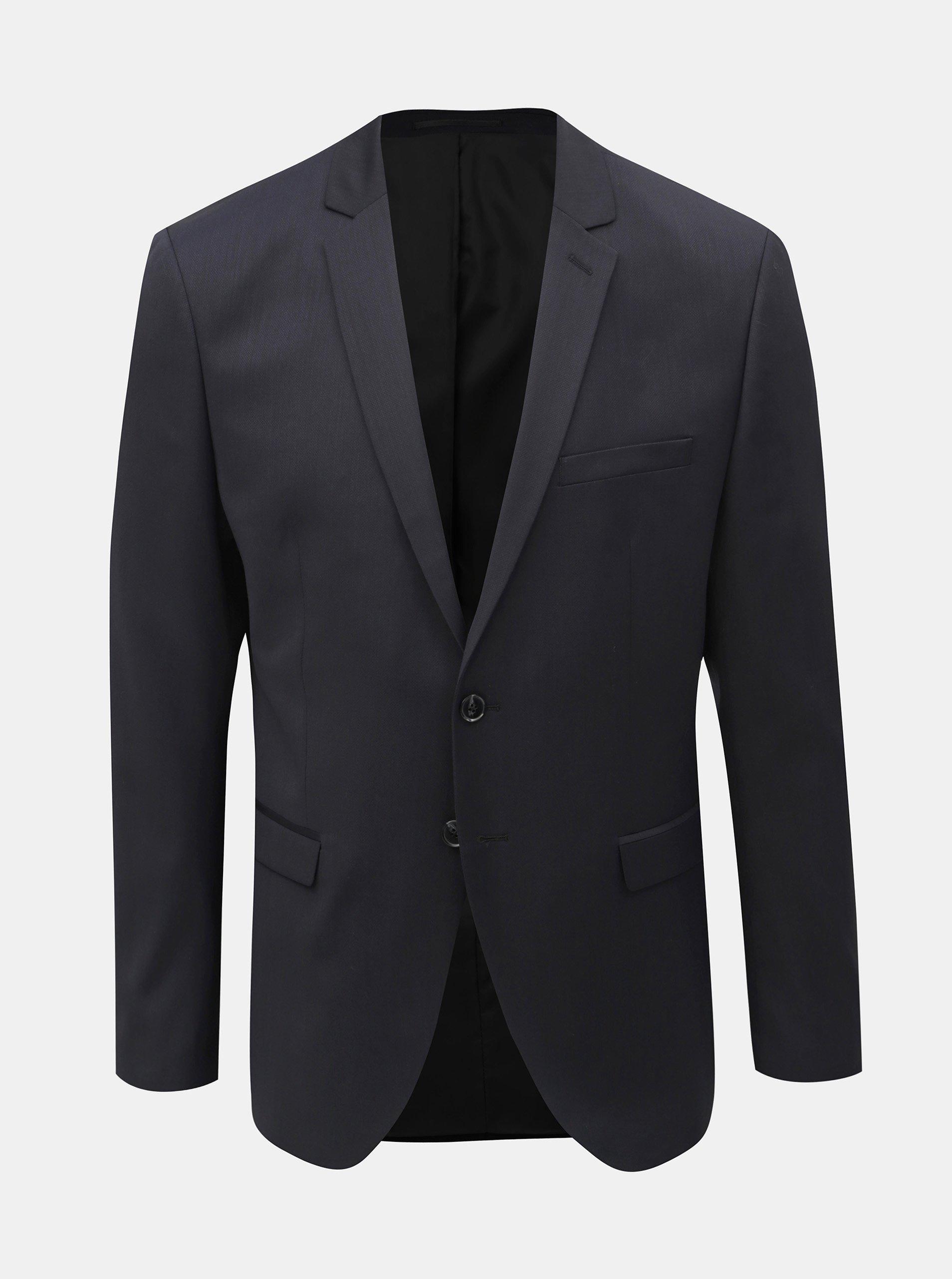 Tmavě modré oblekové slim sako s příměsí vlny Selected Homme Lobill Selected Homme