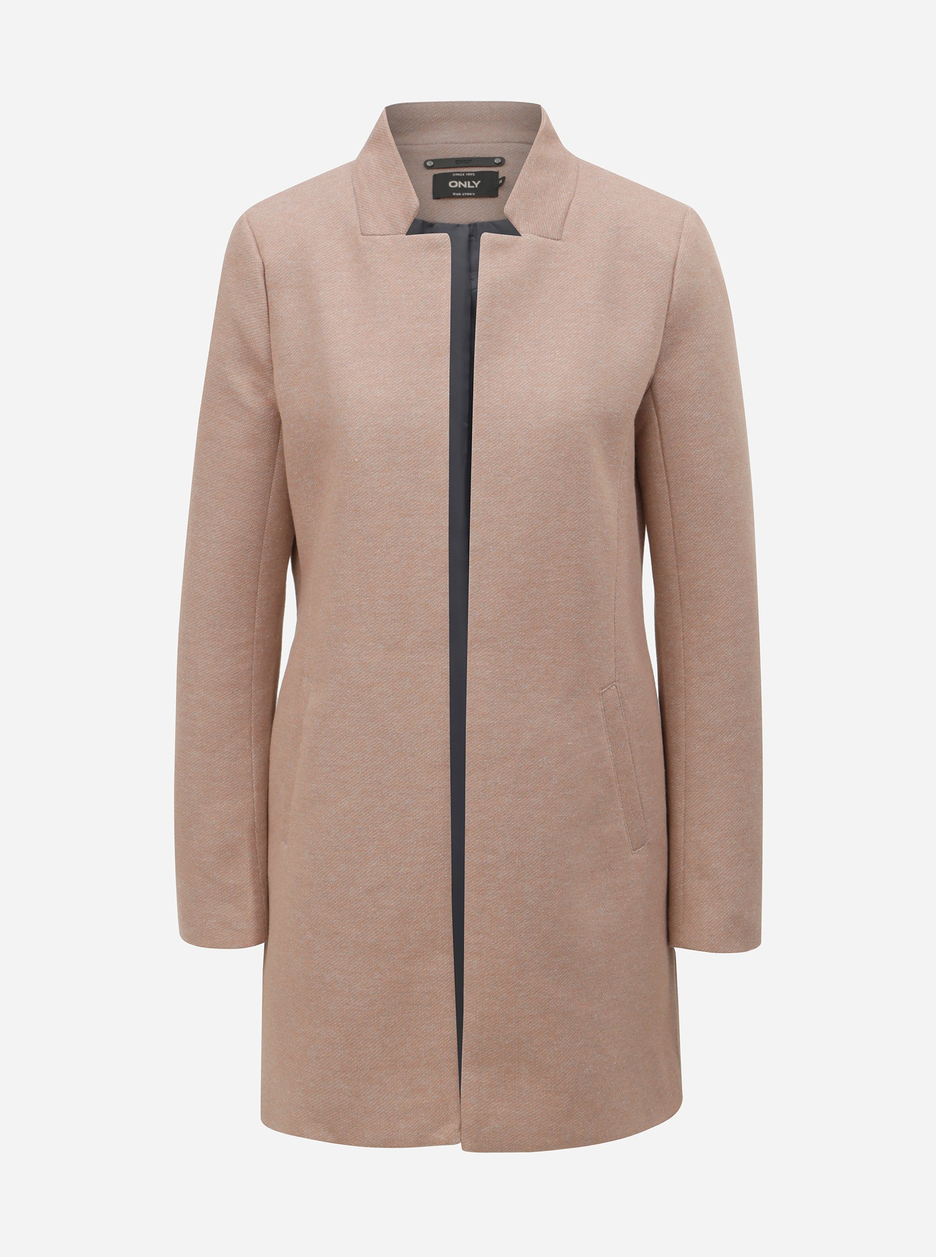 Starorůžový lehký kabát ONLY Soho