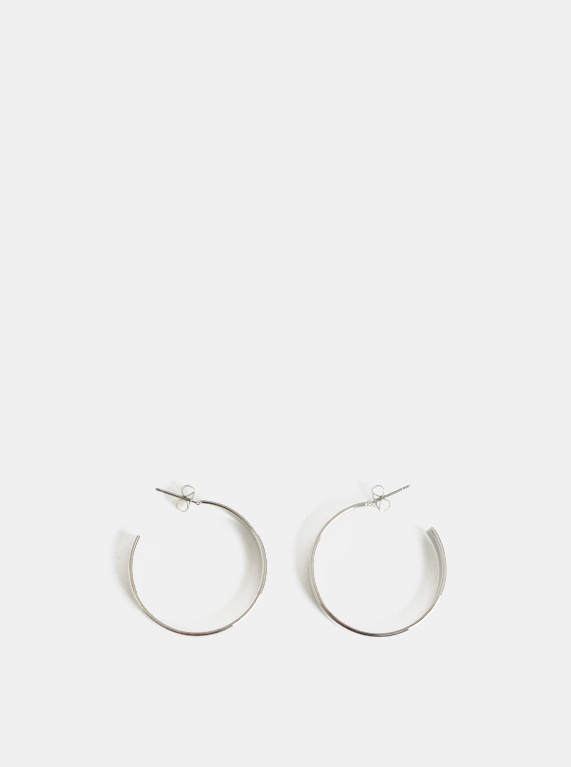 94422d321 Kruhové náušnice ve stříbrné barvě Pieces Sandra