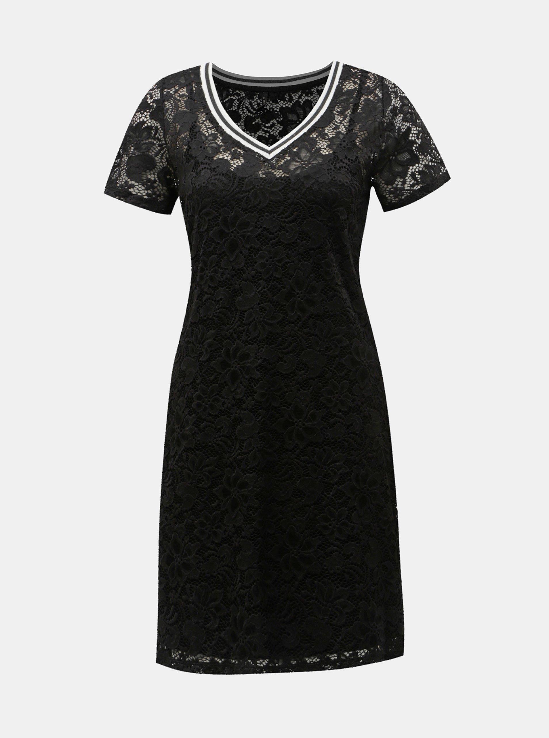 Čierne čipkované šaty ONLY Amaze