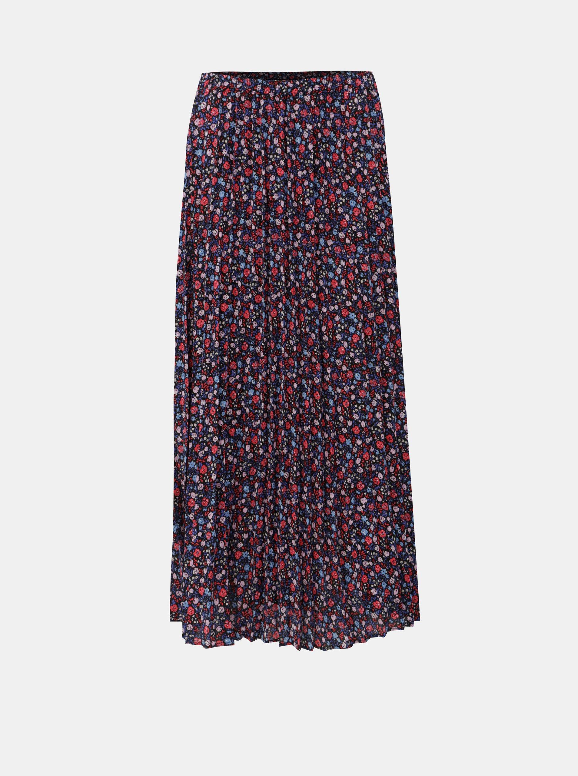 b867c3075b59 Modro-růžová plisovaná květovaná maxi sukně ONLY Phoebe