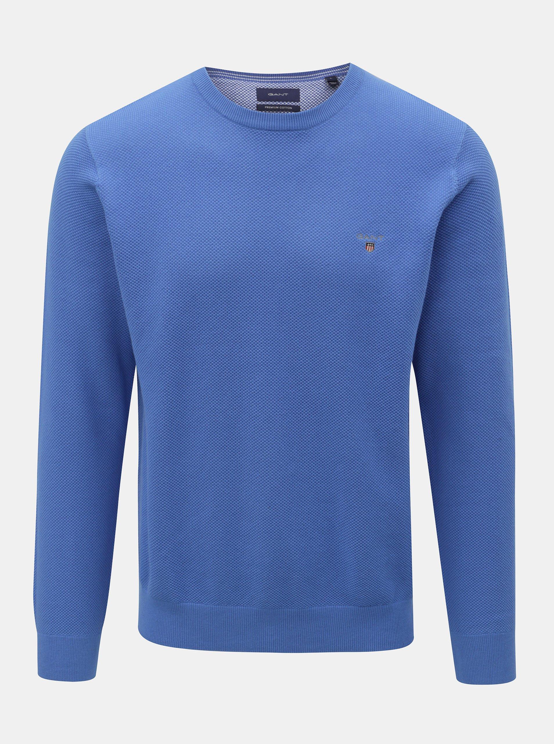 Modrý pánsky sveter GANT