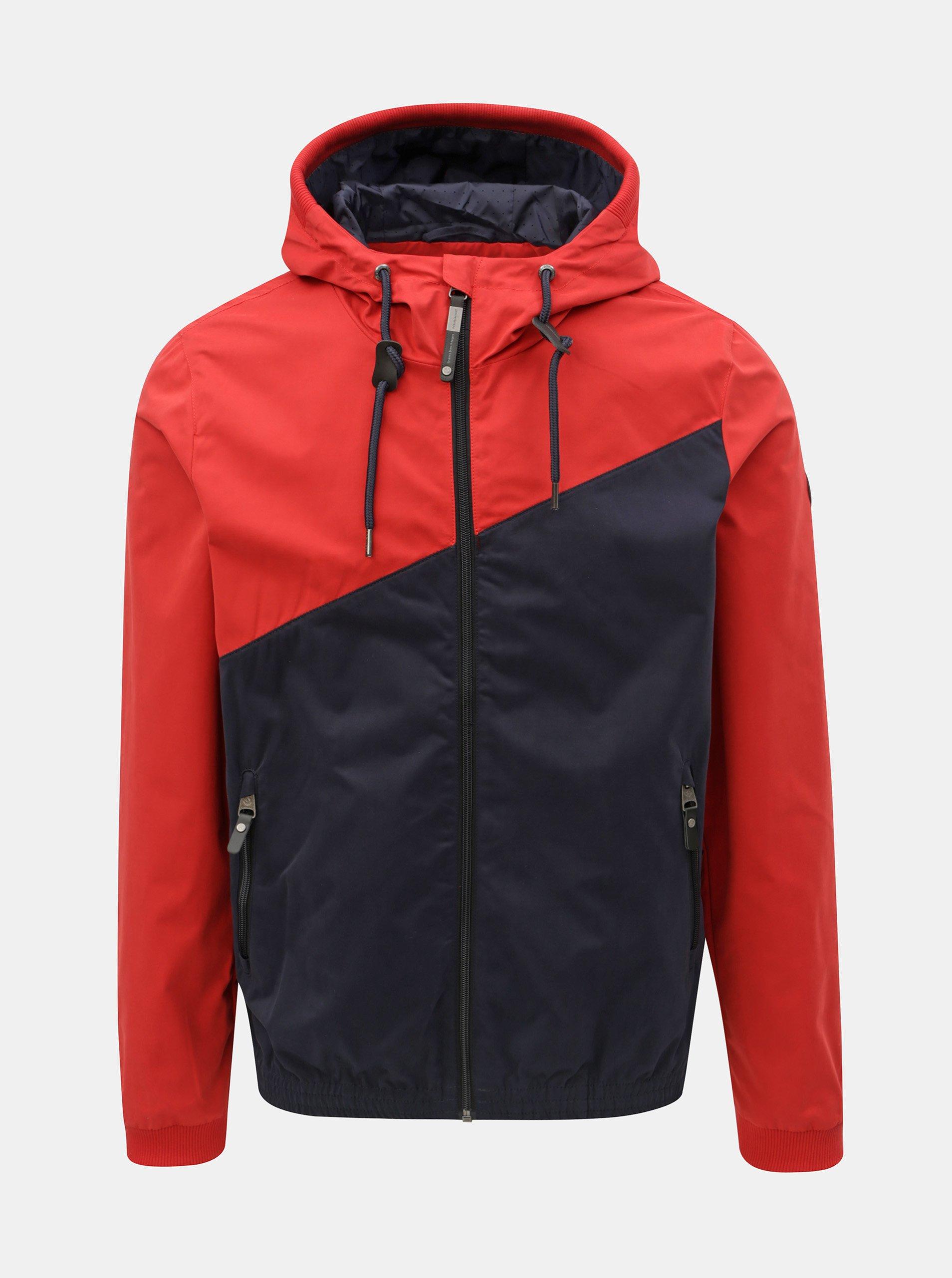 Fotografie Červeno-modrá pánská bunda Ragwear Nugget
